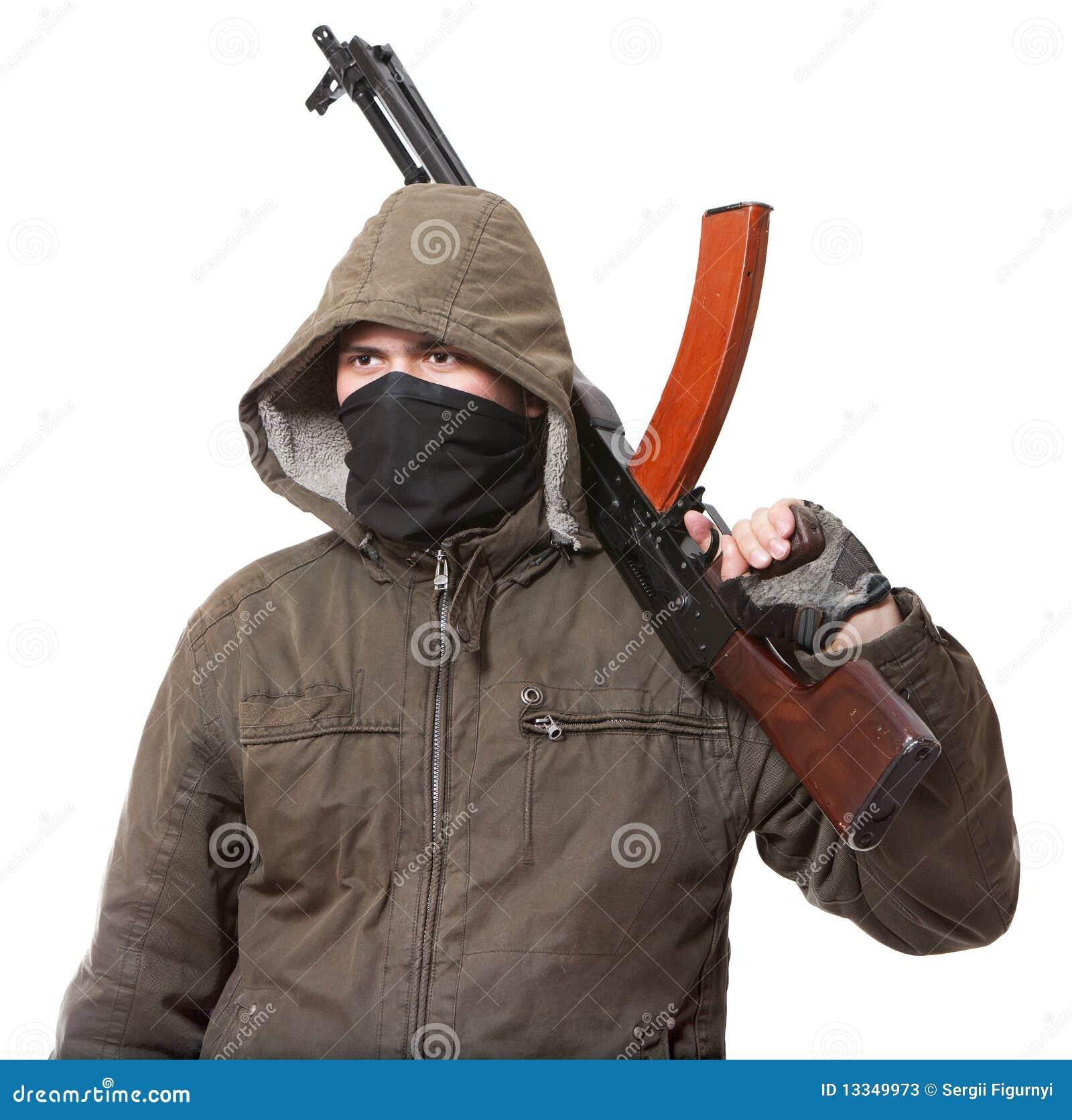 Terroriste avec l arme