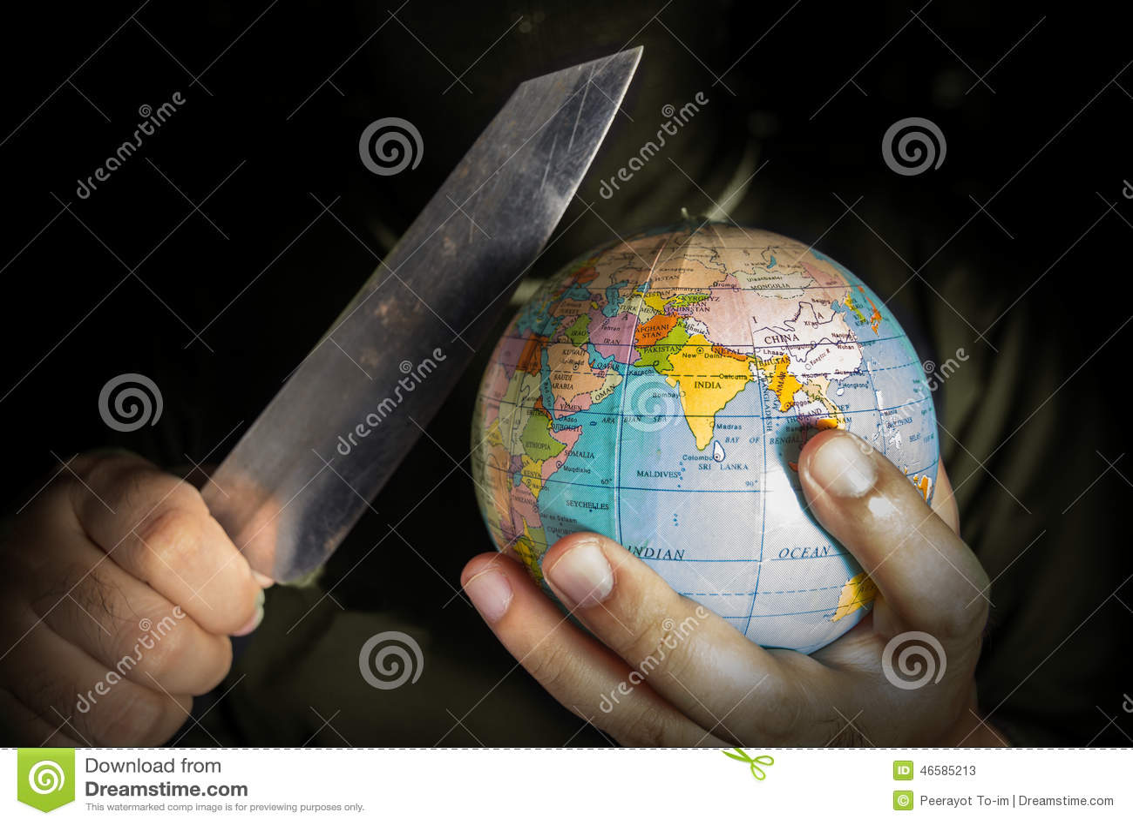Terroriste de danger pour le monde