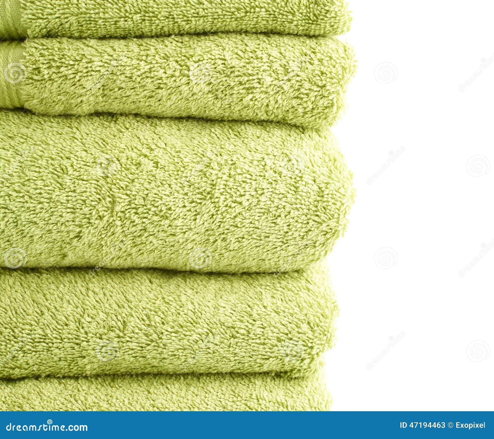 Terry Cloth Bath Towel Composition Stock Photo Image