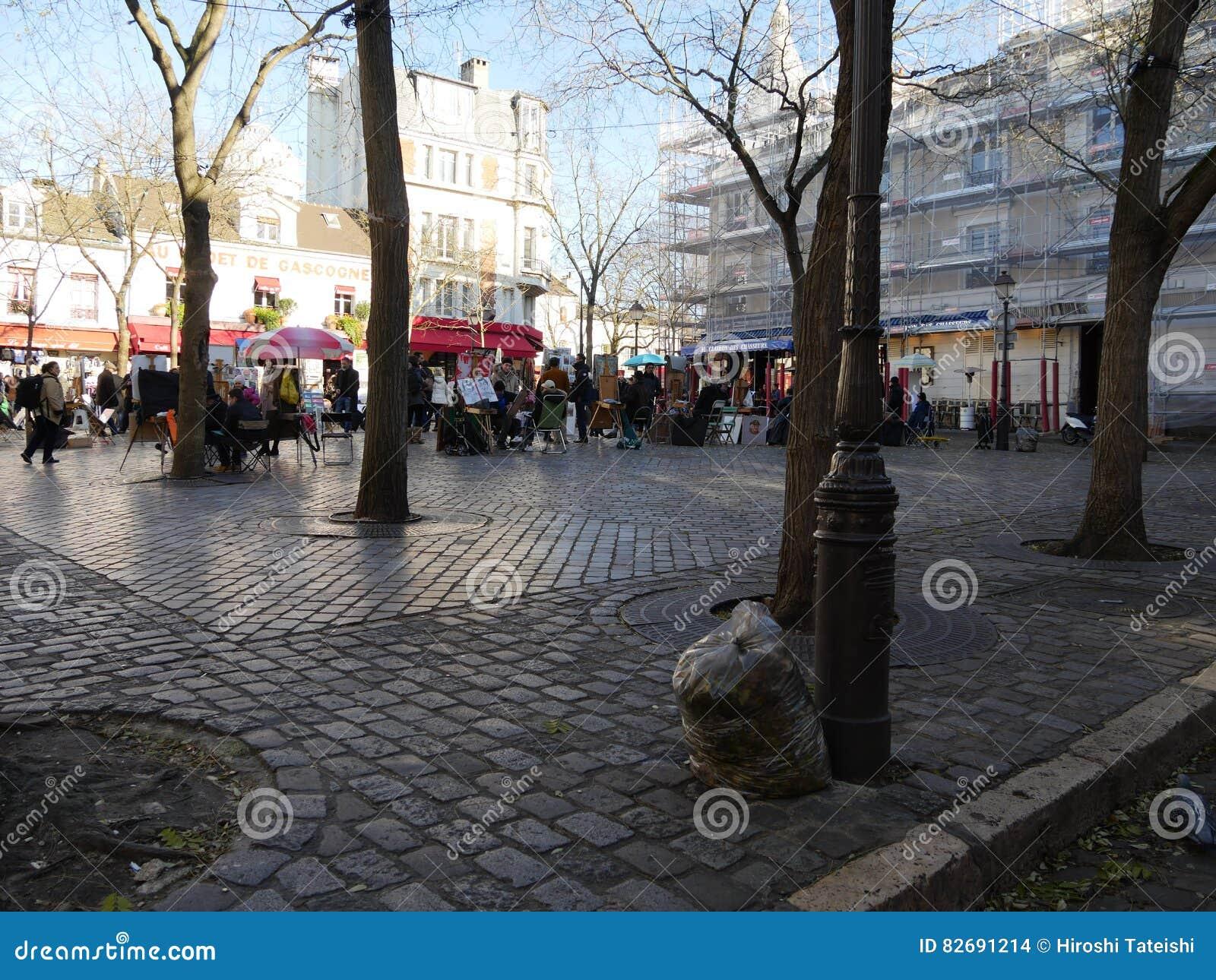 Tertre fyrkant i Montmartre, Paris