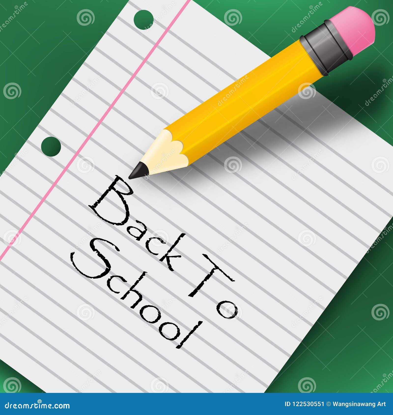Terug naar school creatieve achtergrond met potlood