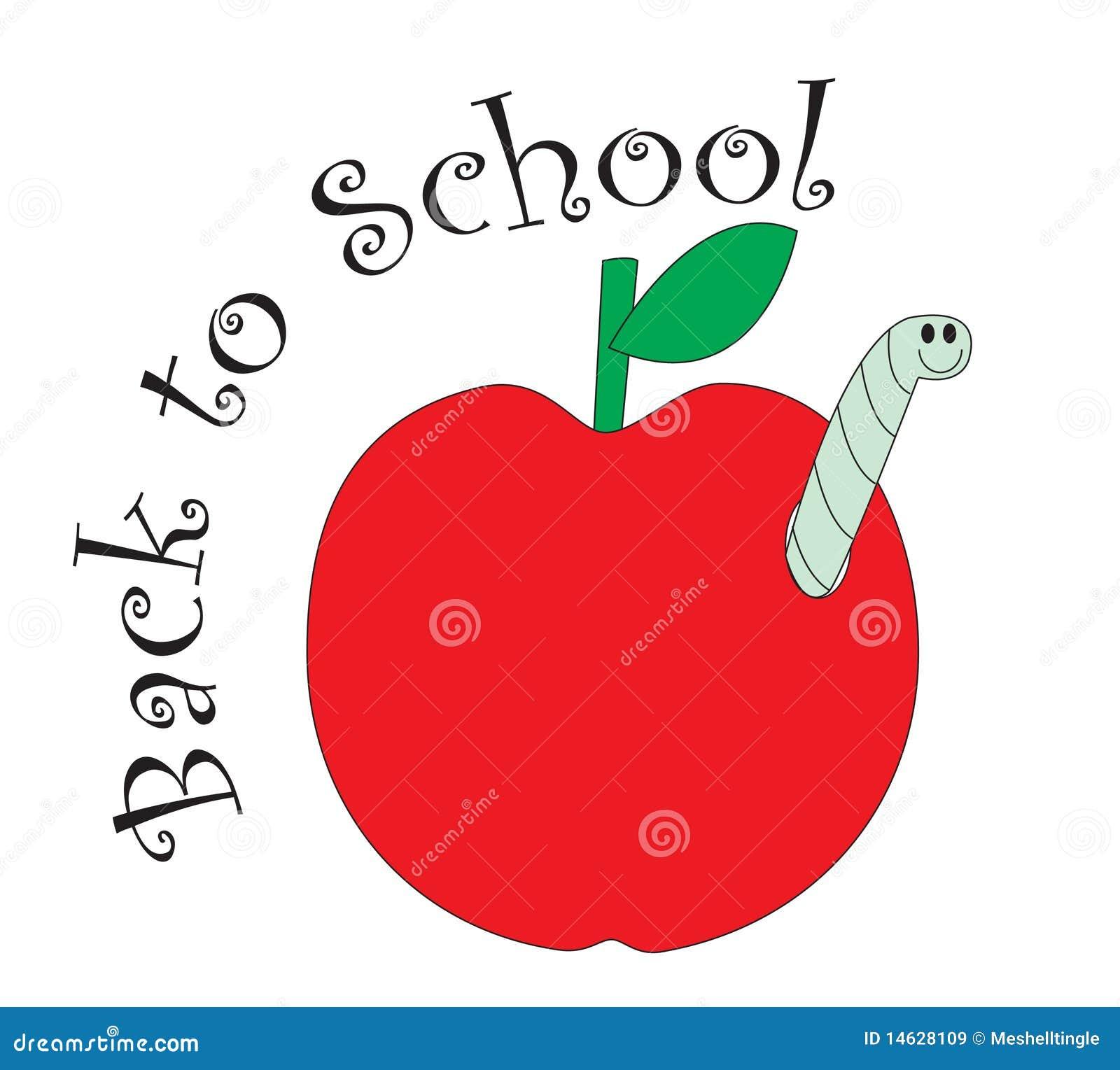 Terug naar school rode appel