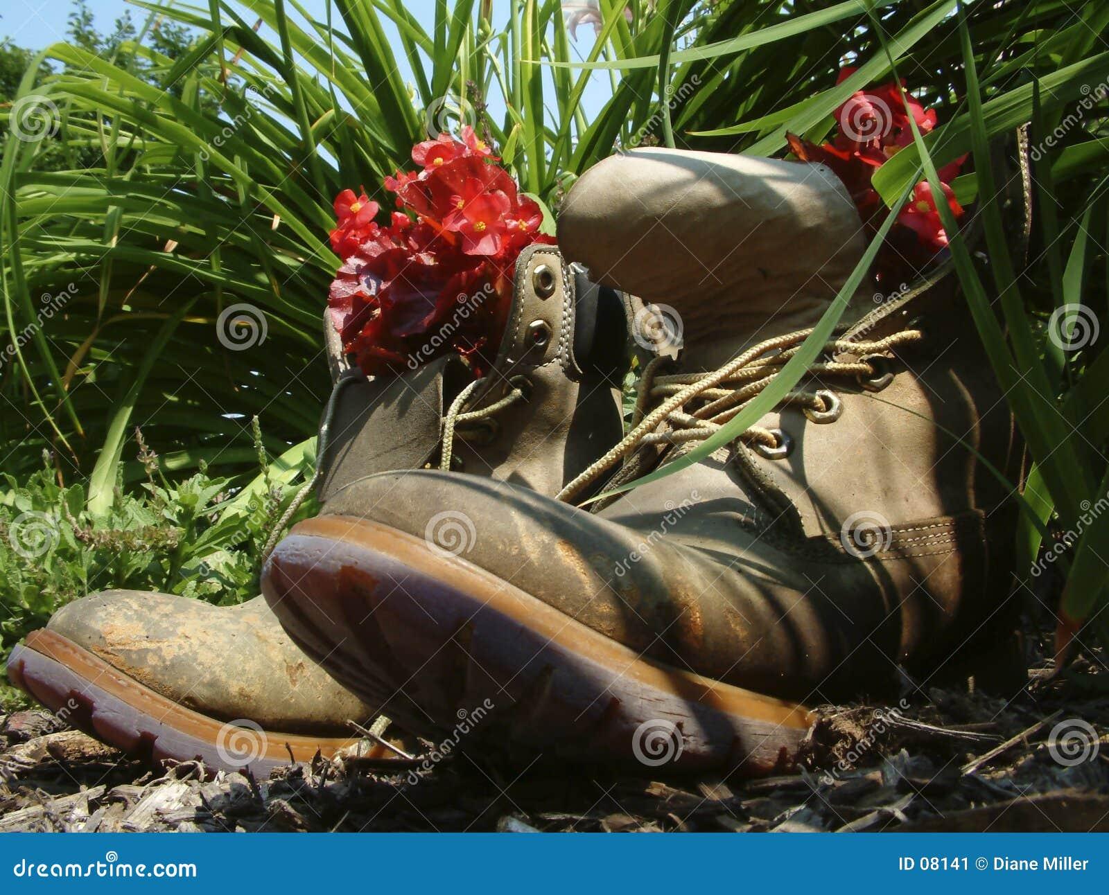Teruggetrokken laarzen