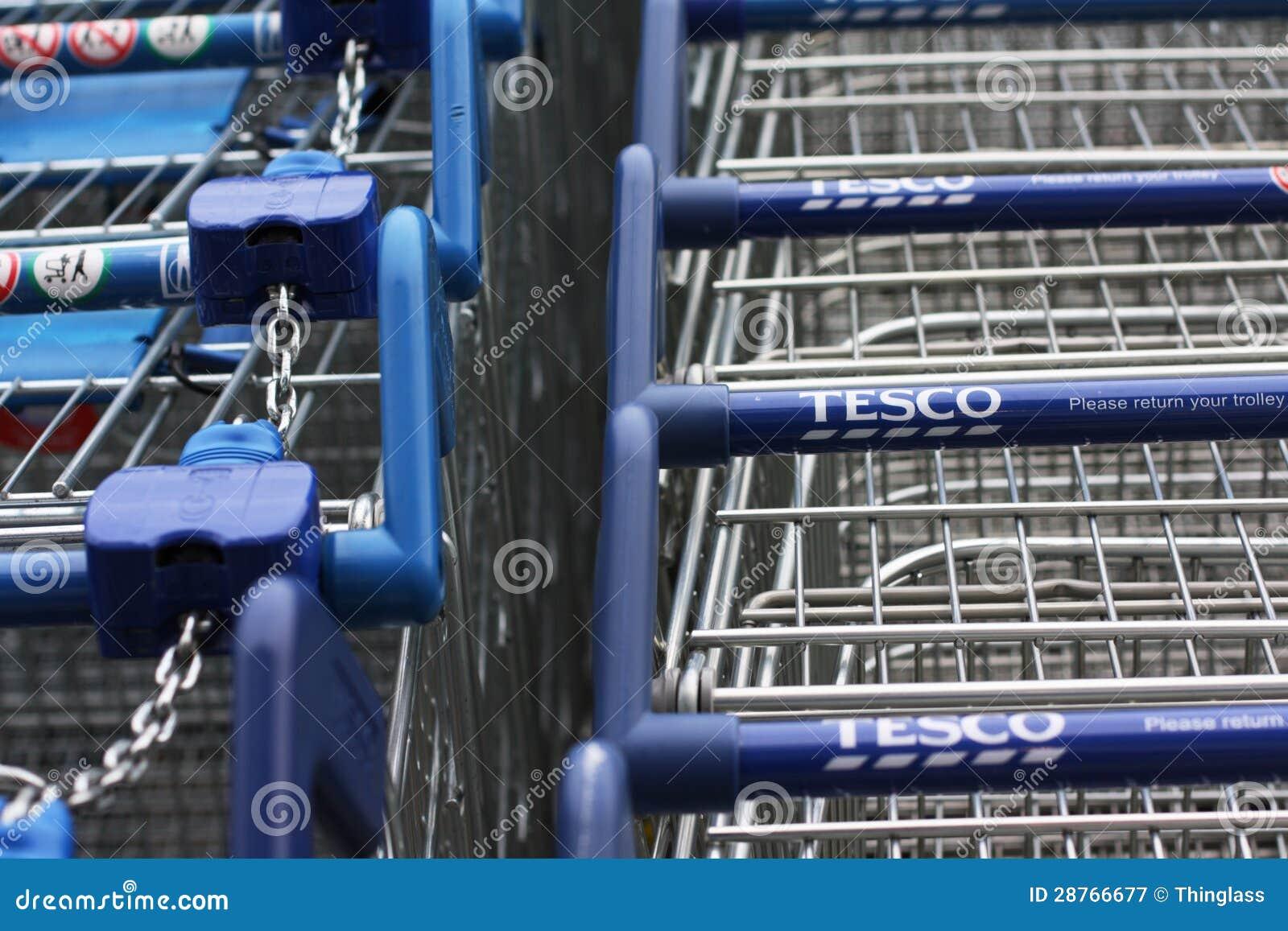 Tesco shoppingvagnar