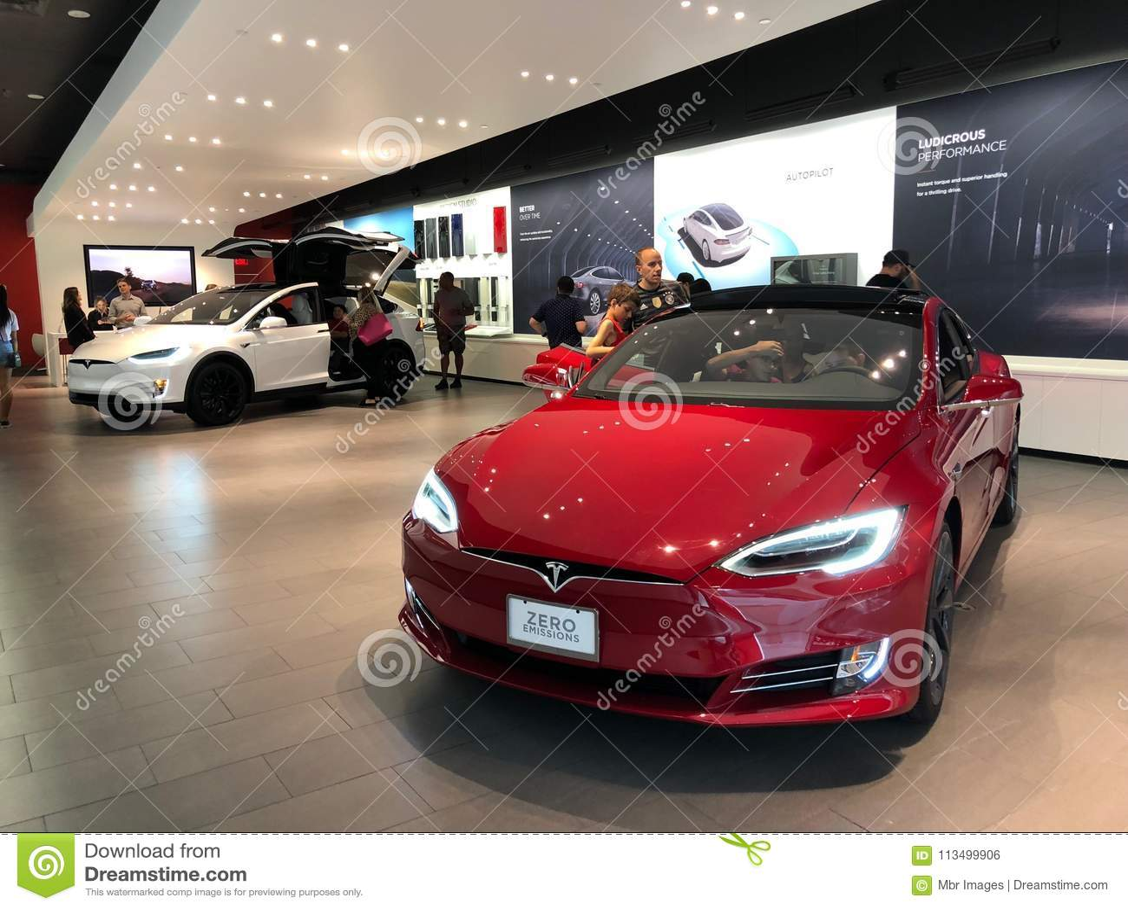 Tesla-Ausstellungsraum
