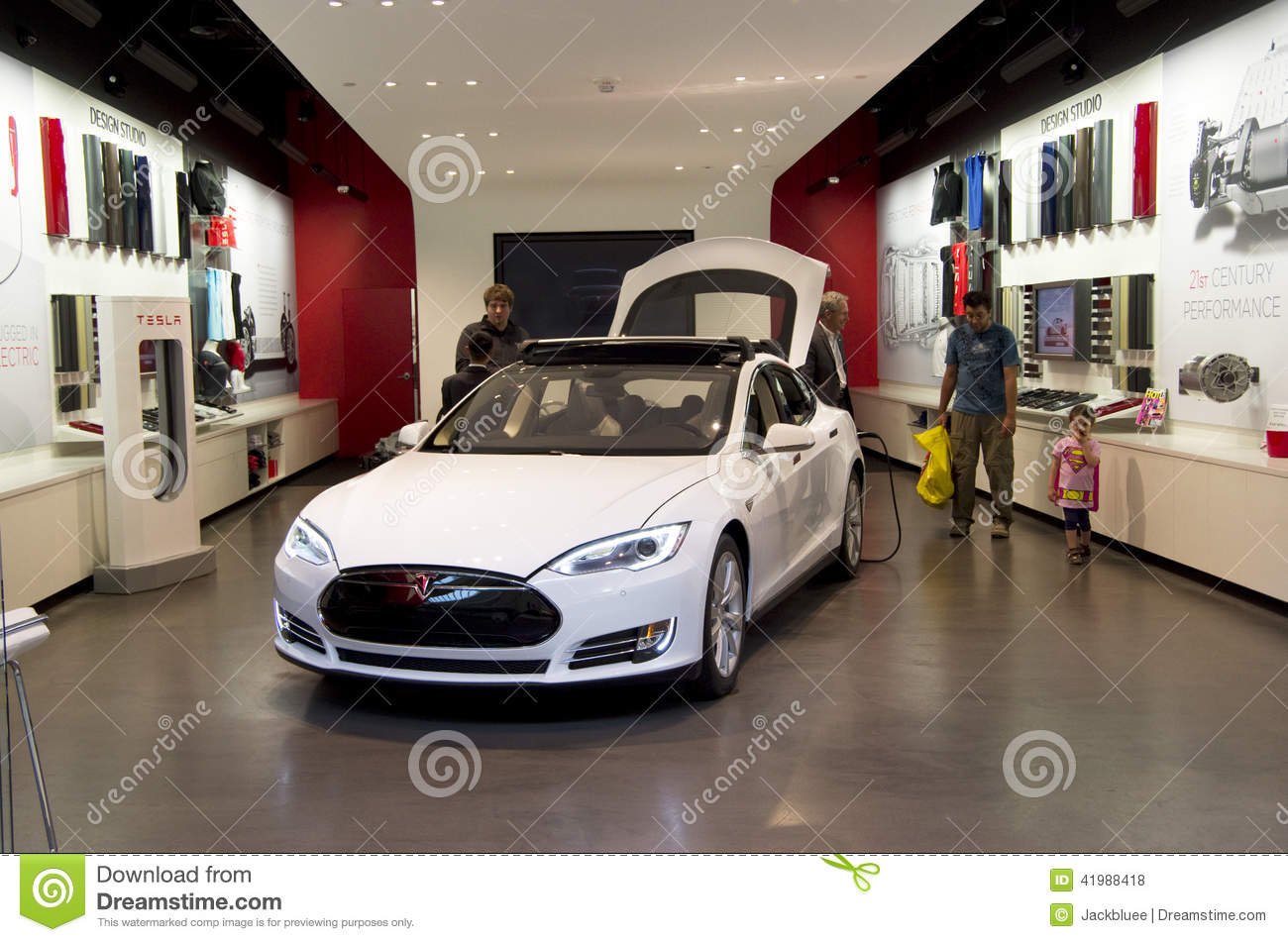 Tesla Electric Car Showroom Editorial Stock Photo Image