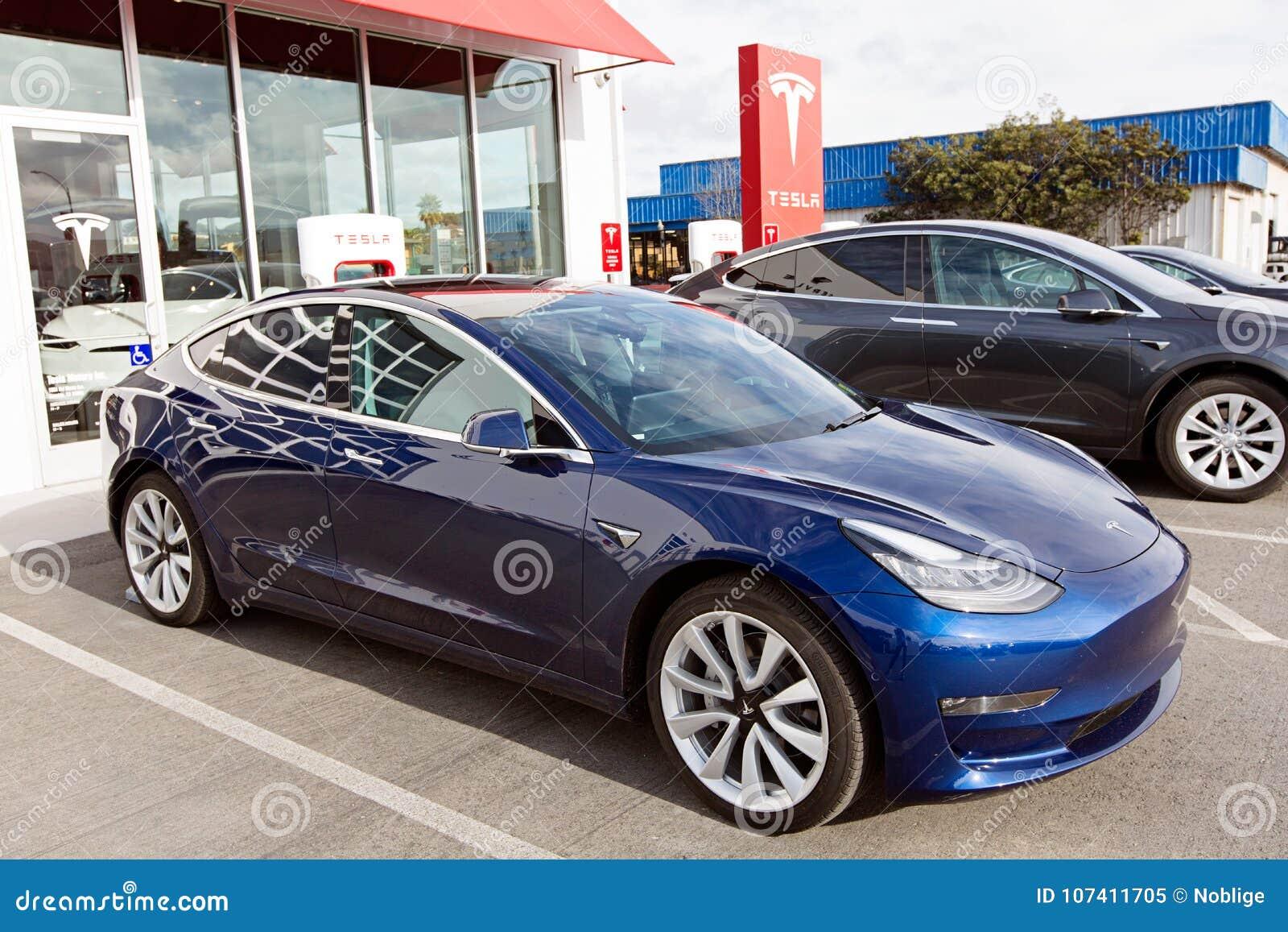 Tesla Model 3 New Electric Car Editorial Image - Image of