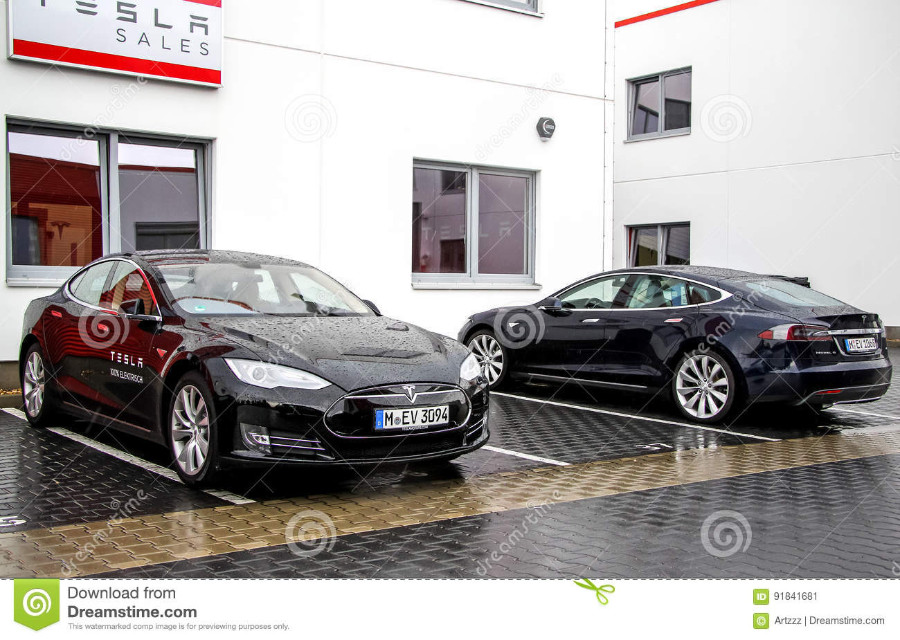 tesla model s editorial photo image 91841681. Black Bedroom Furniture Sets. Home Design Ideas