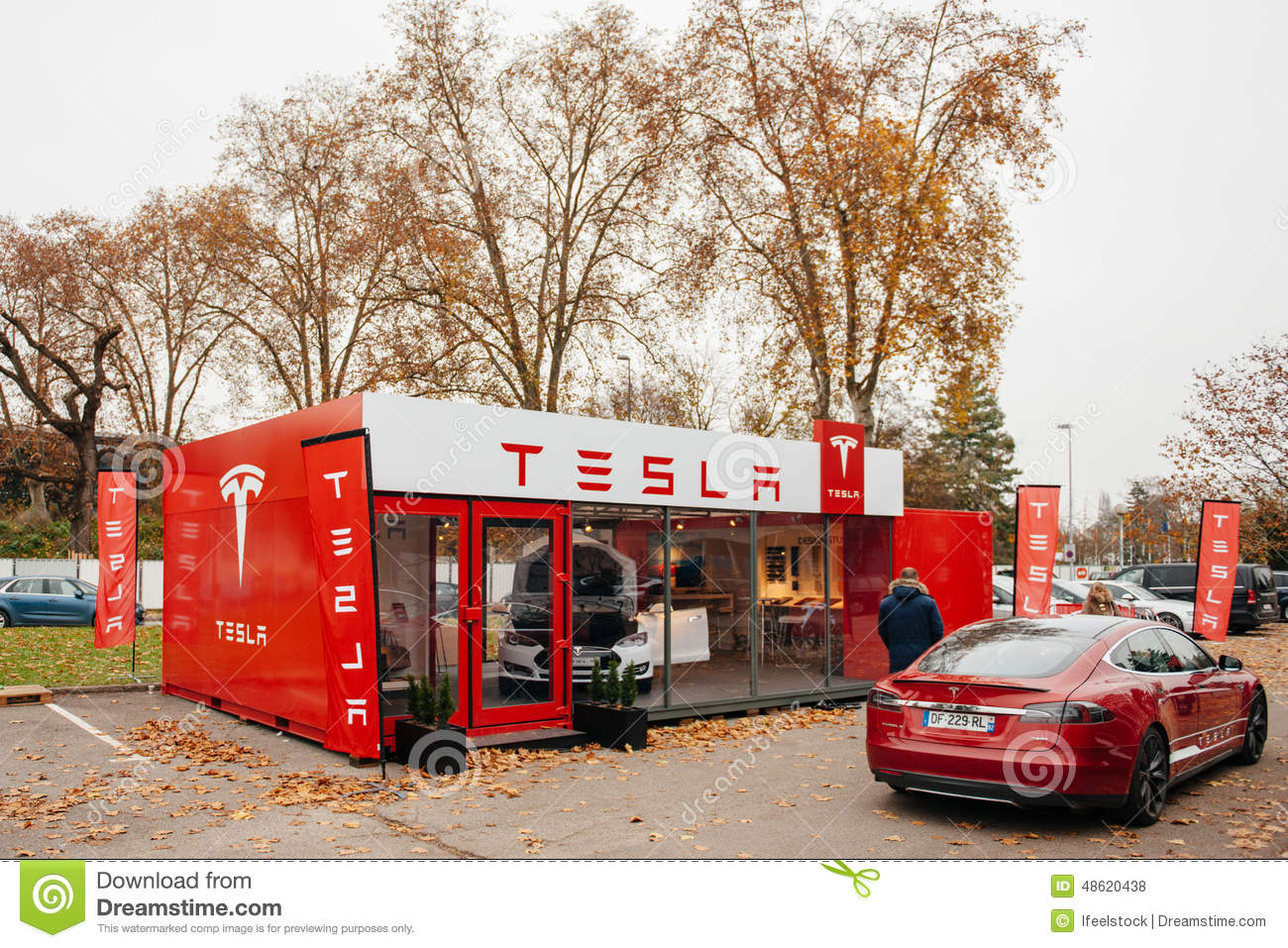 Tesla Model S Electric Car Zero Emissions Editorial Stock Photo