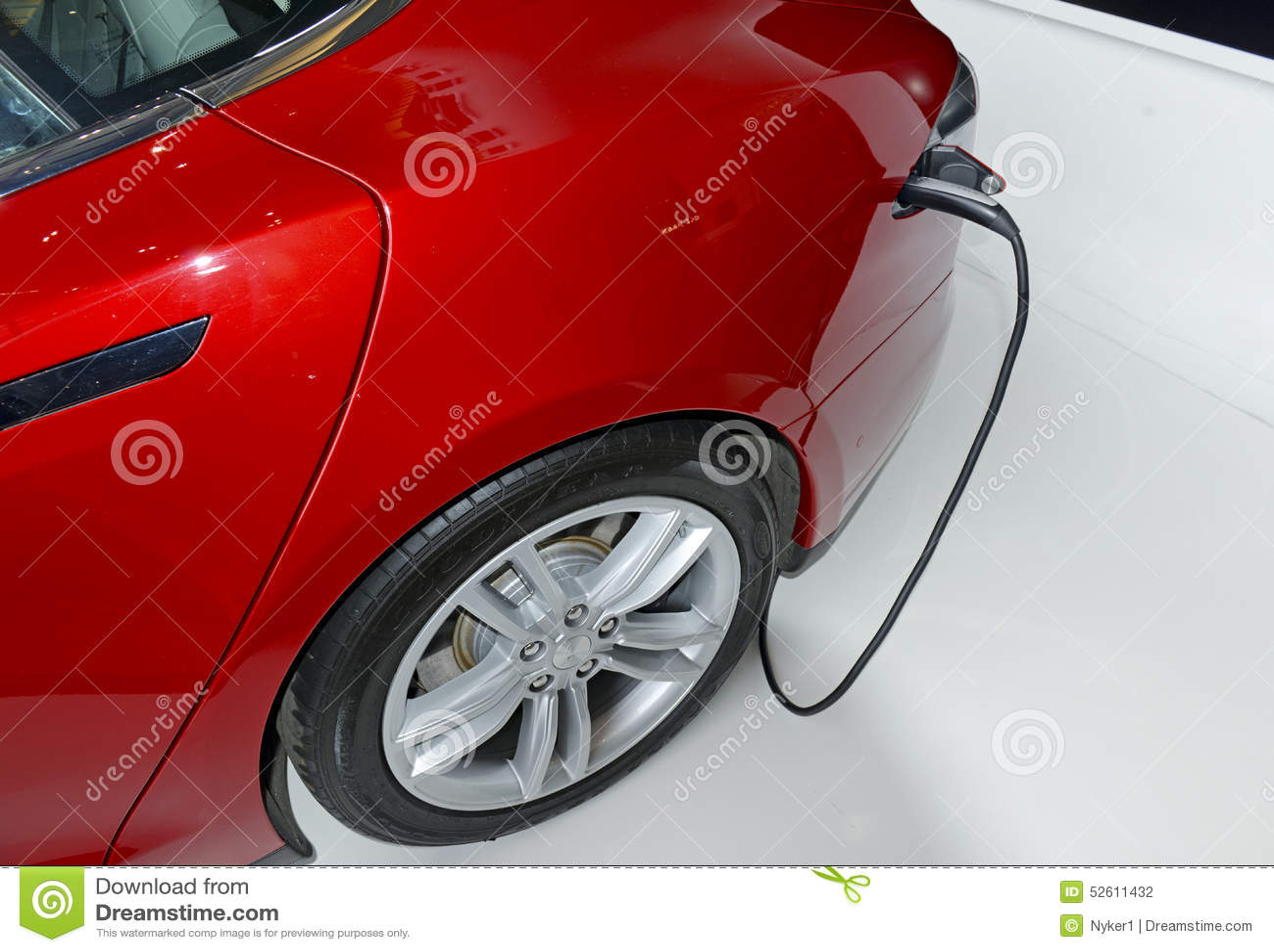 Tesla Motors Model S On Display In New York Editorial Photography Image 52611432