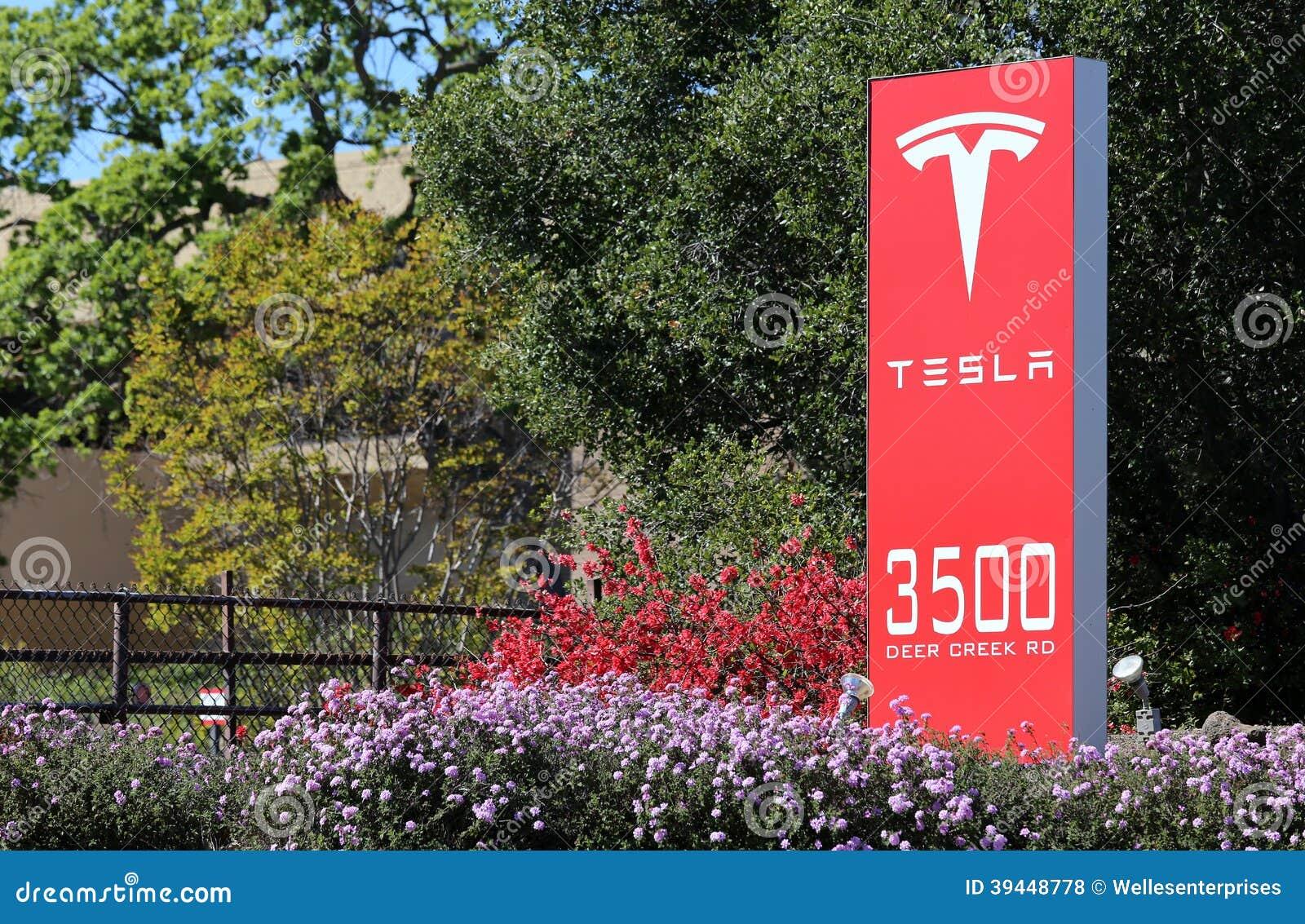 Tesla motors world headquarters editorial stock photo for Tesla motors palo alto