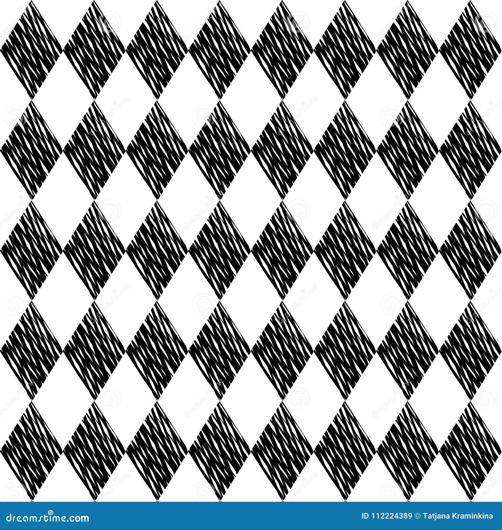 Tessellation Noir De Losanges Sur Le Fond Blanc Configuration
