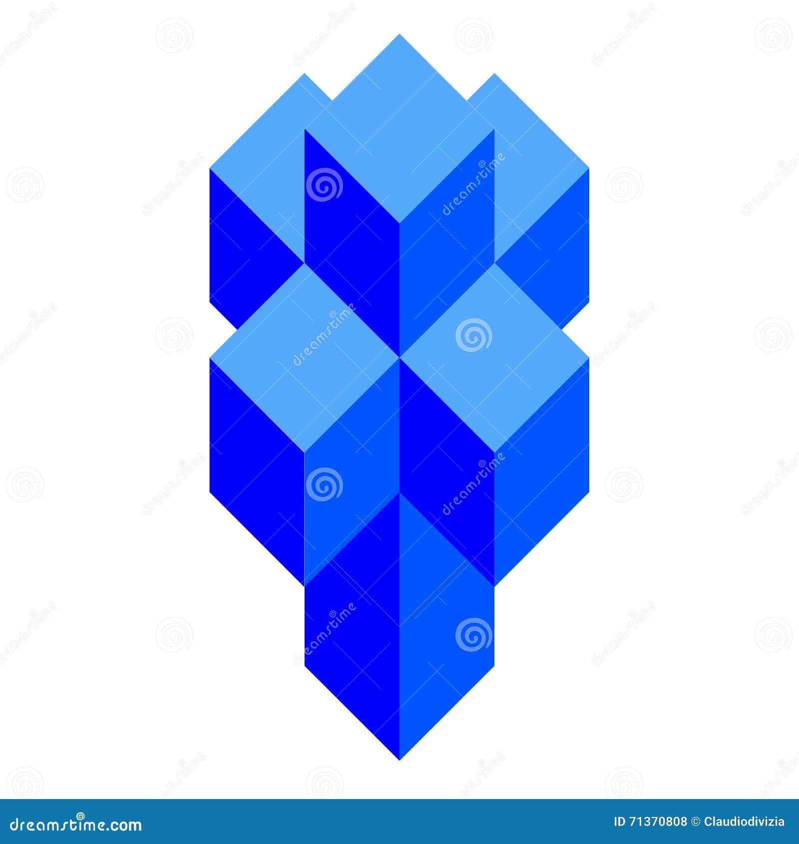 tesseract aka hypercube stock illustration illustration of