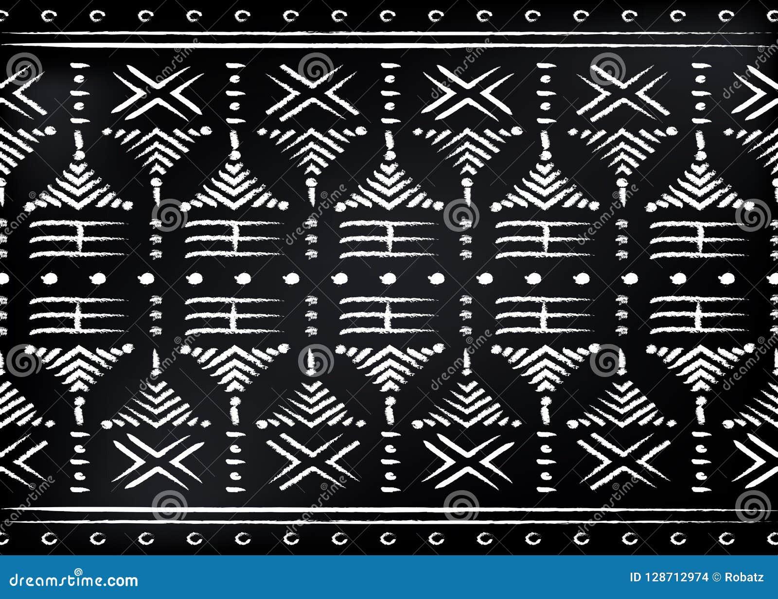 Tessuto africano della stampa, ornamento fatto a mano etnico per i vostri elementi geometrici di progettazione, di motivi etnici