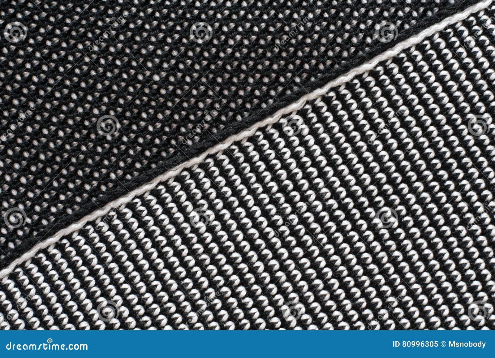 965b67d74bb0 Tessuto tricottato fatto di lana bianca e nera Priorità bassa strutturata  grigia