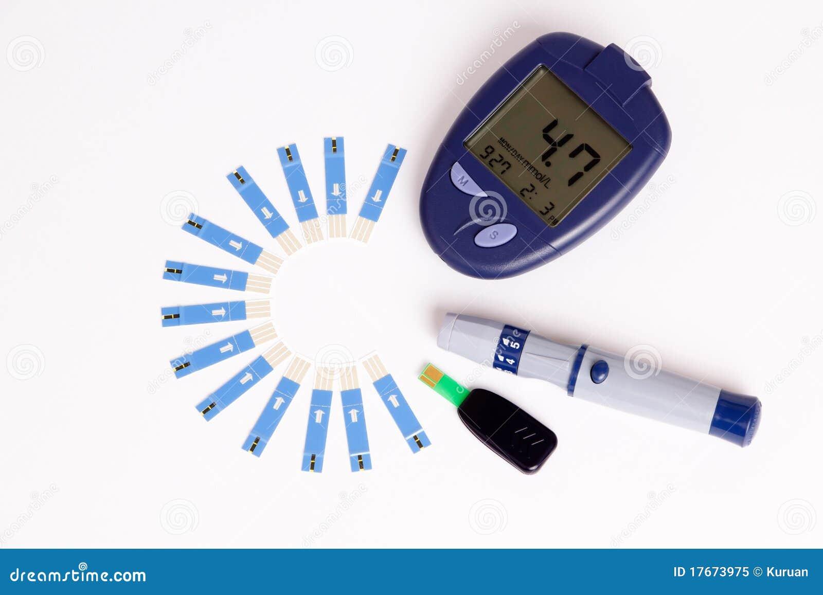 Test Blood Sugar On Glucose Meter Stock Image - Image of ...