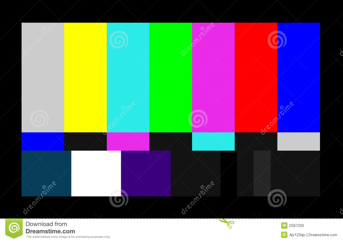 Test Card For Computer Screen Stock Photo Image 2587200