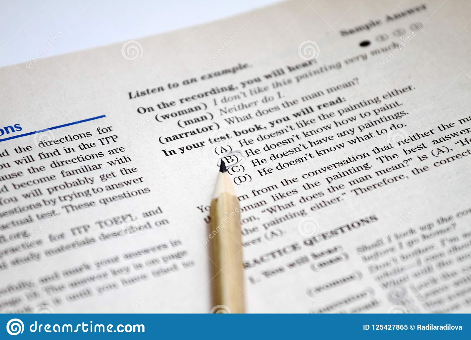Test Of English As A Foreign Language, TOEFL Test Sheets