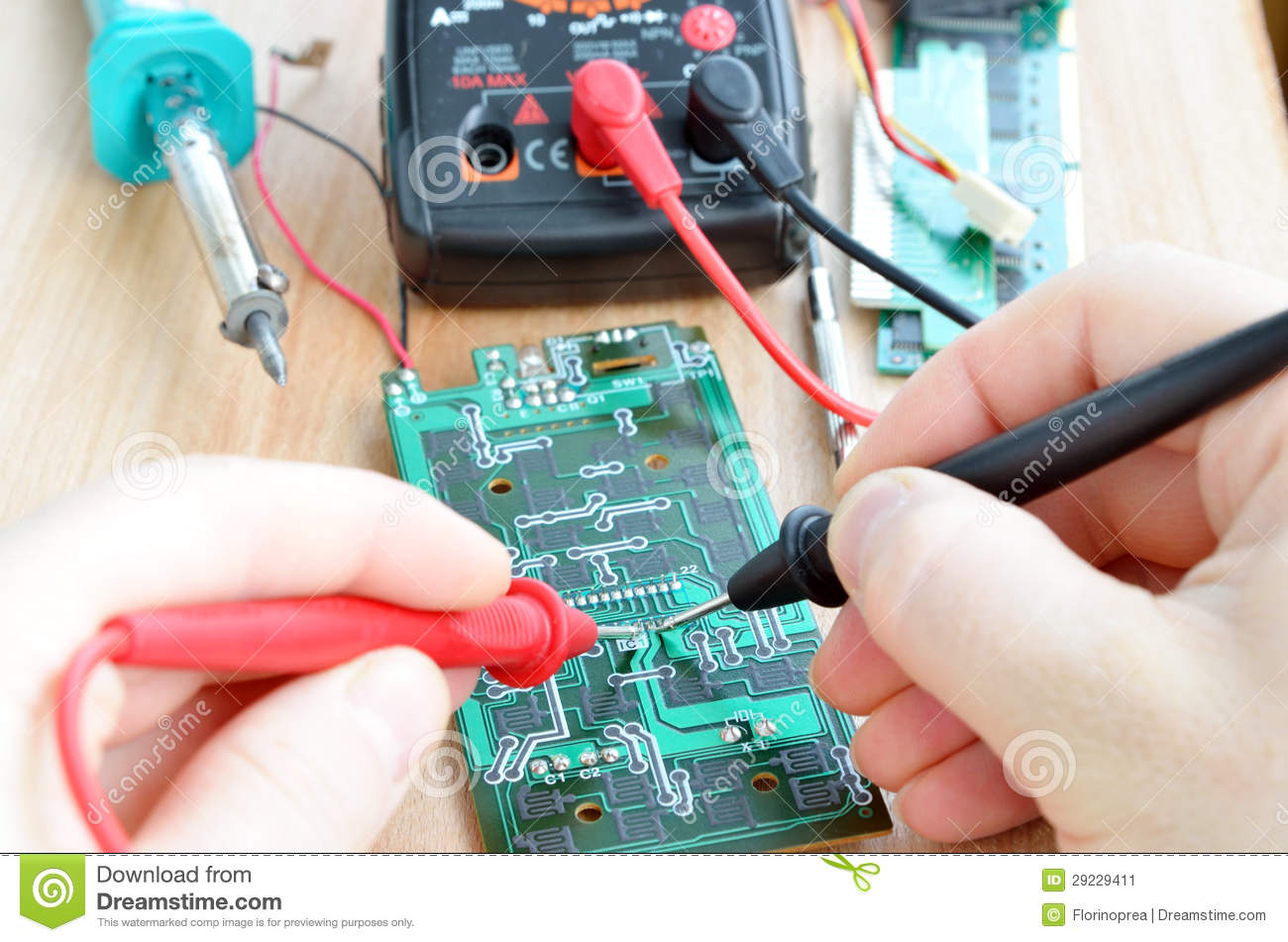 Electronics Tester Jobs : Test repair job on electronic printed circuit boar stock