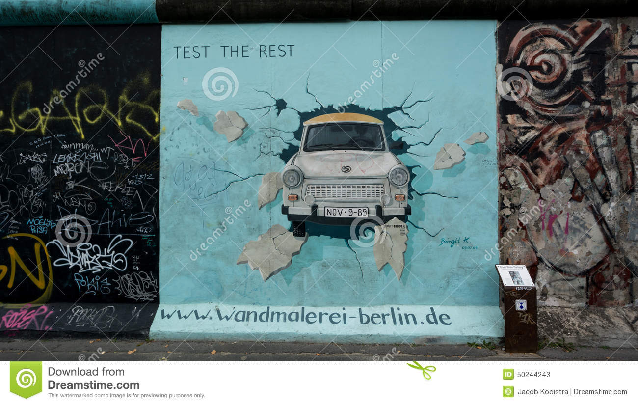 Berlin Wall Mural Test The Rest Berlin Wall East Side Gallery Editorial