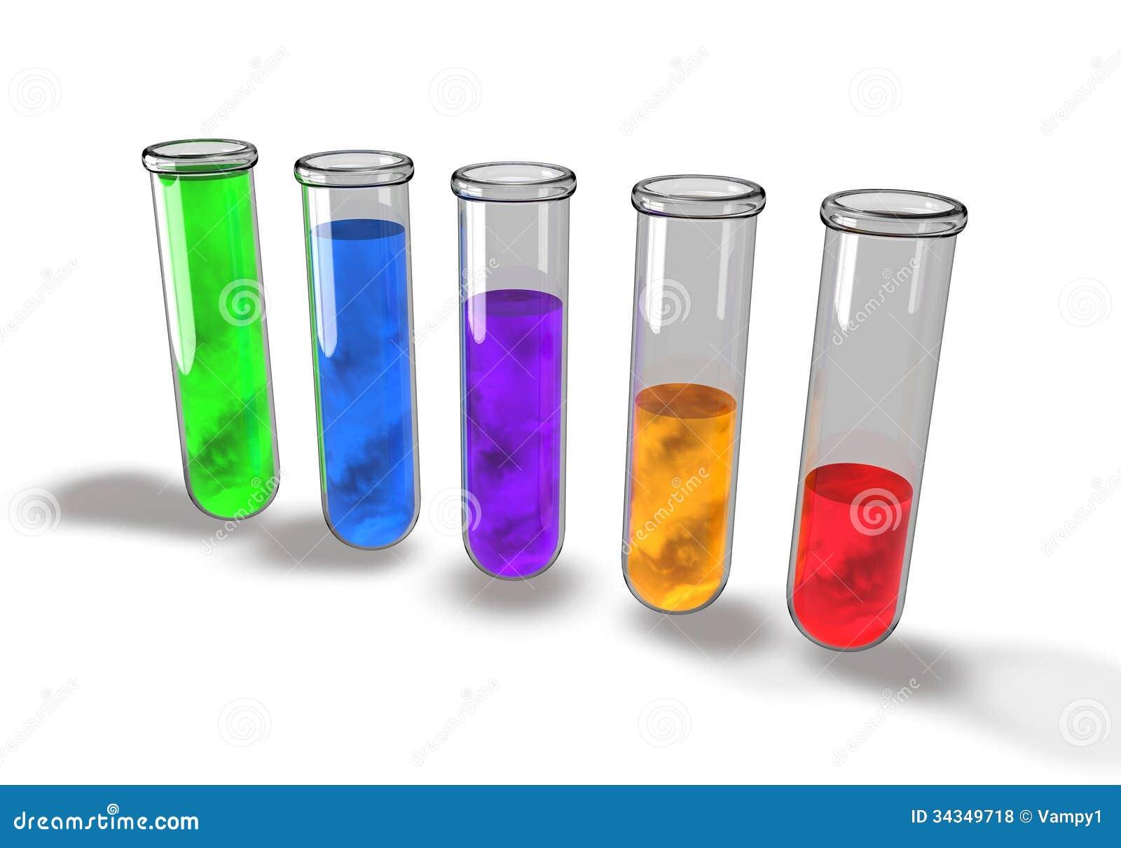 Test Tube Chemical Analysis Laboratory Royalty Free Stock
