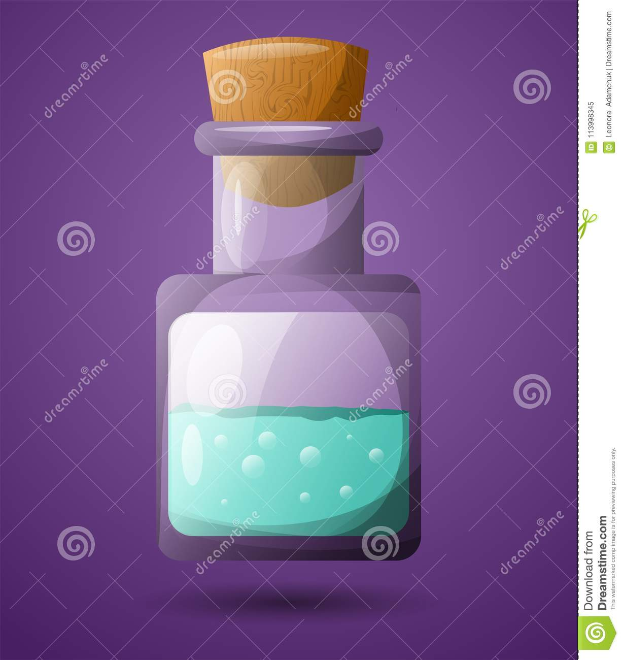 Download A Test Tube With A Green Liquid. For Design In Games. High Speed Poison. Stock Illustration - Illustration of experiment, container: 113998345