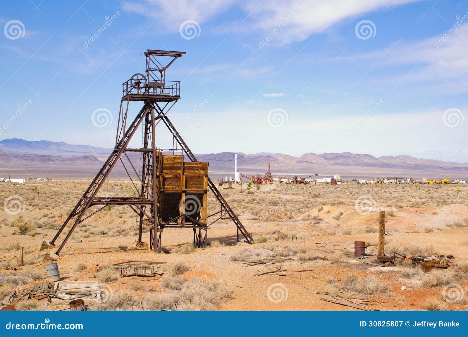 Testa dell asse di estrazione mineraria