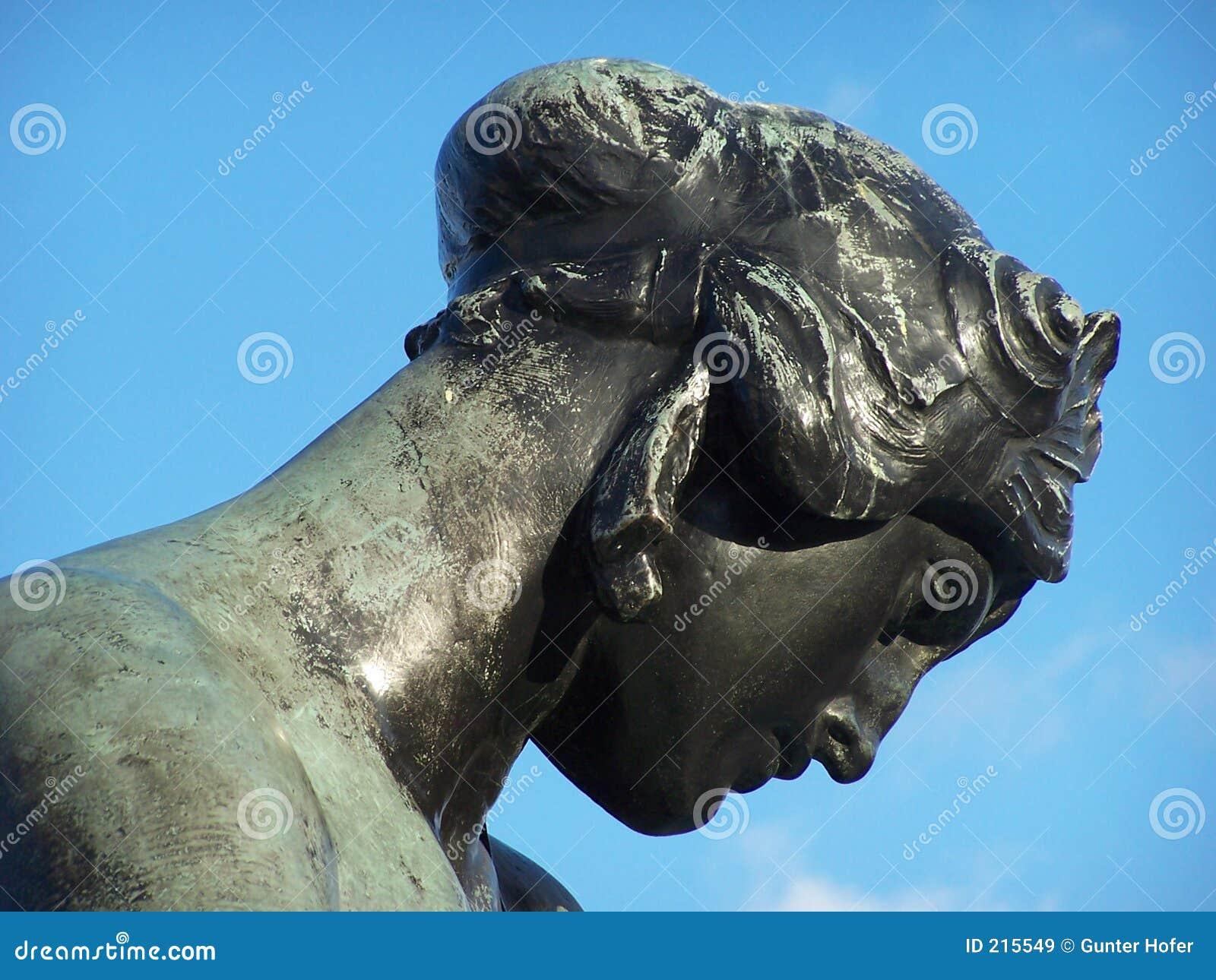 Testa della statua