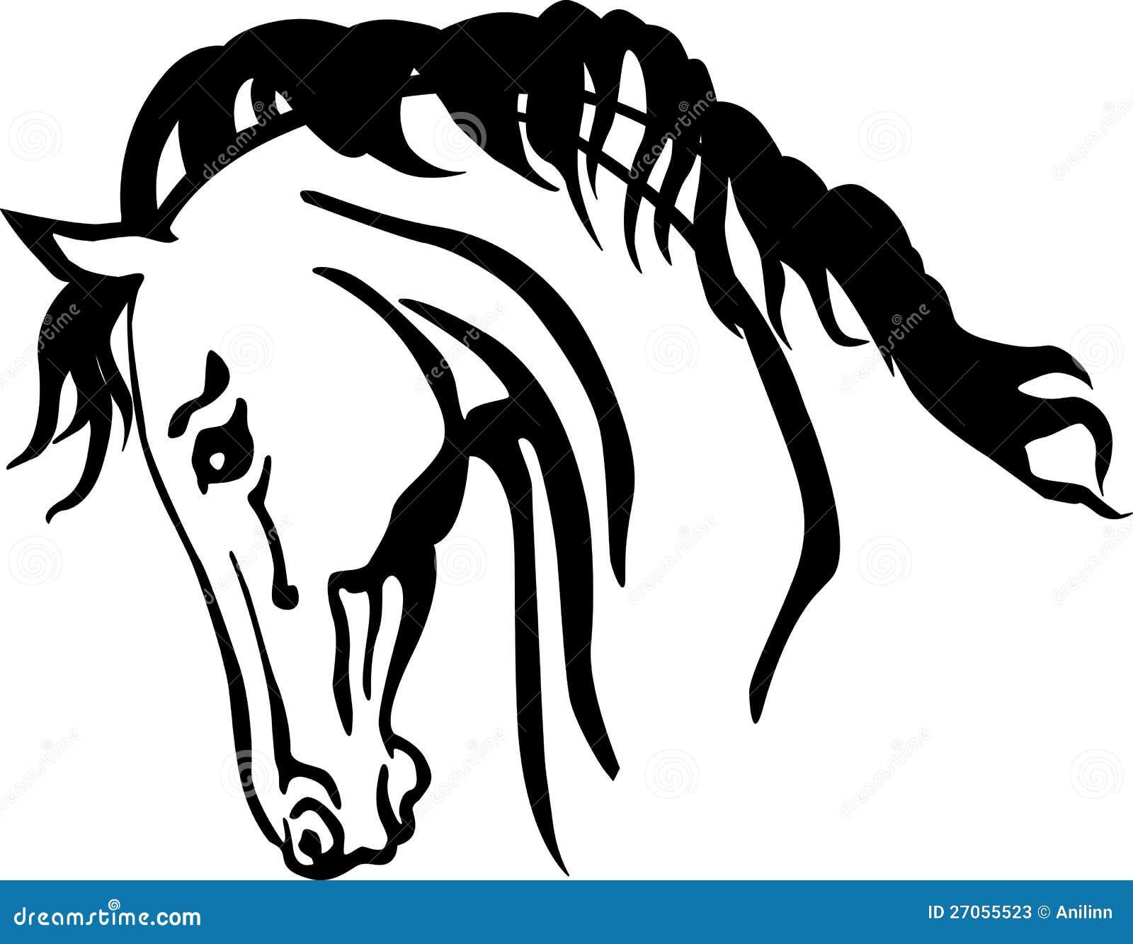 Testa di cavallo araba illustrazione vettoriale for Immagini cavalli stilizzati