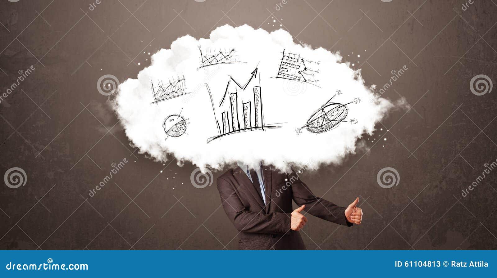 Testa elegante della nuvola dell 39 uomo di affari con i for Planimetrie della caverna dell uomo