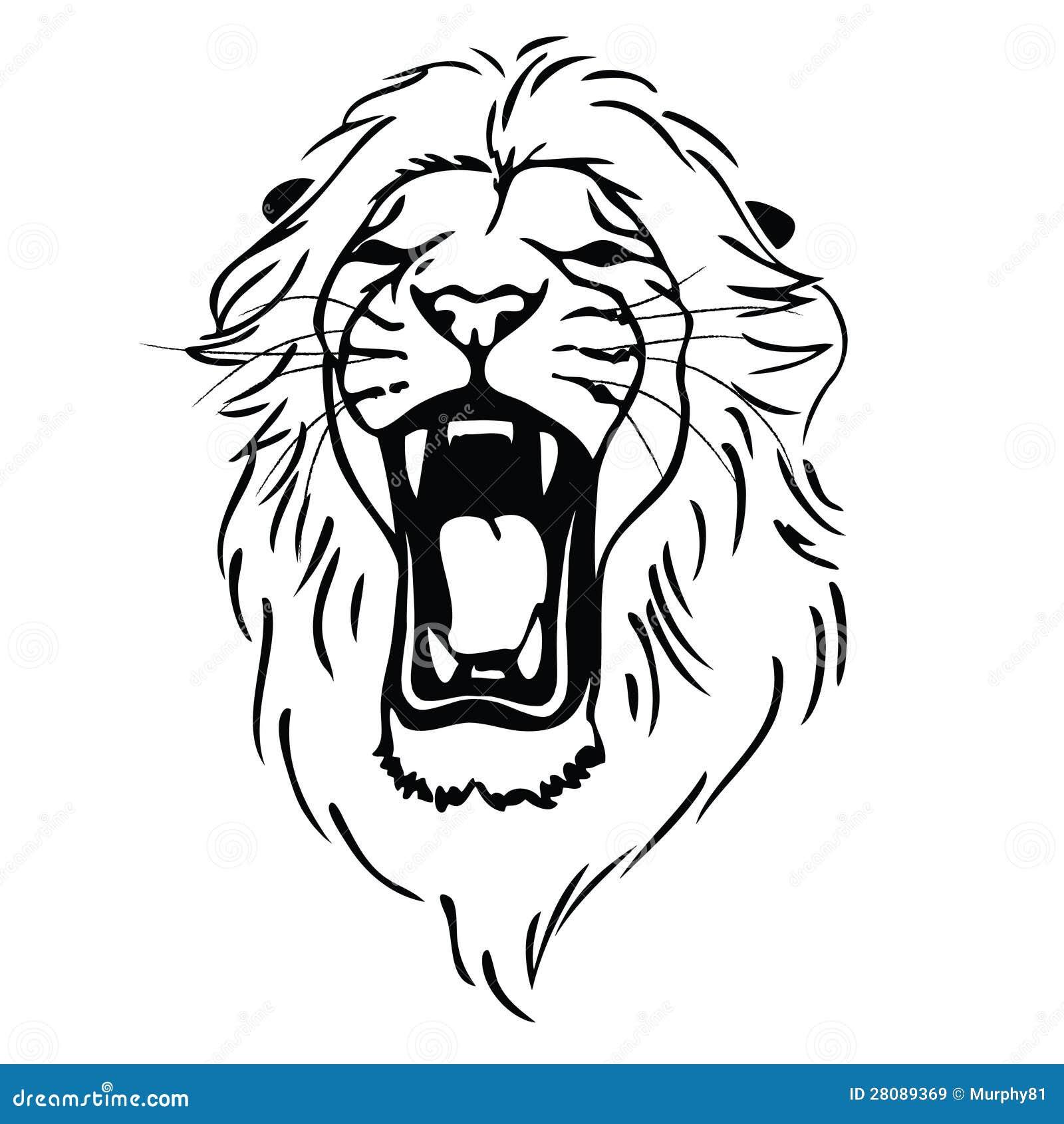 Testa isolata come simbolo segno emblema del leone for Immagini tigre da colorare