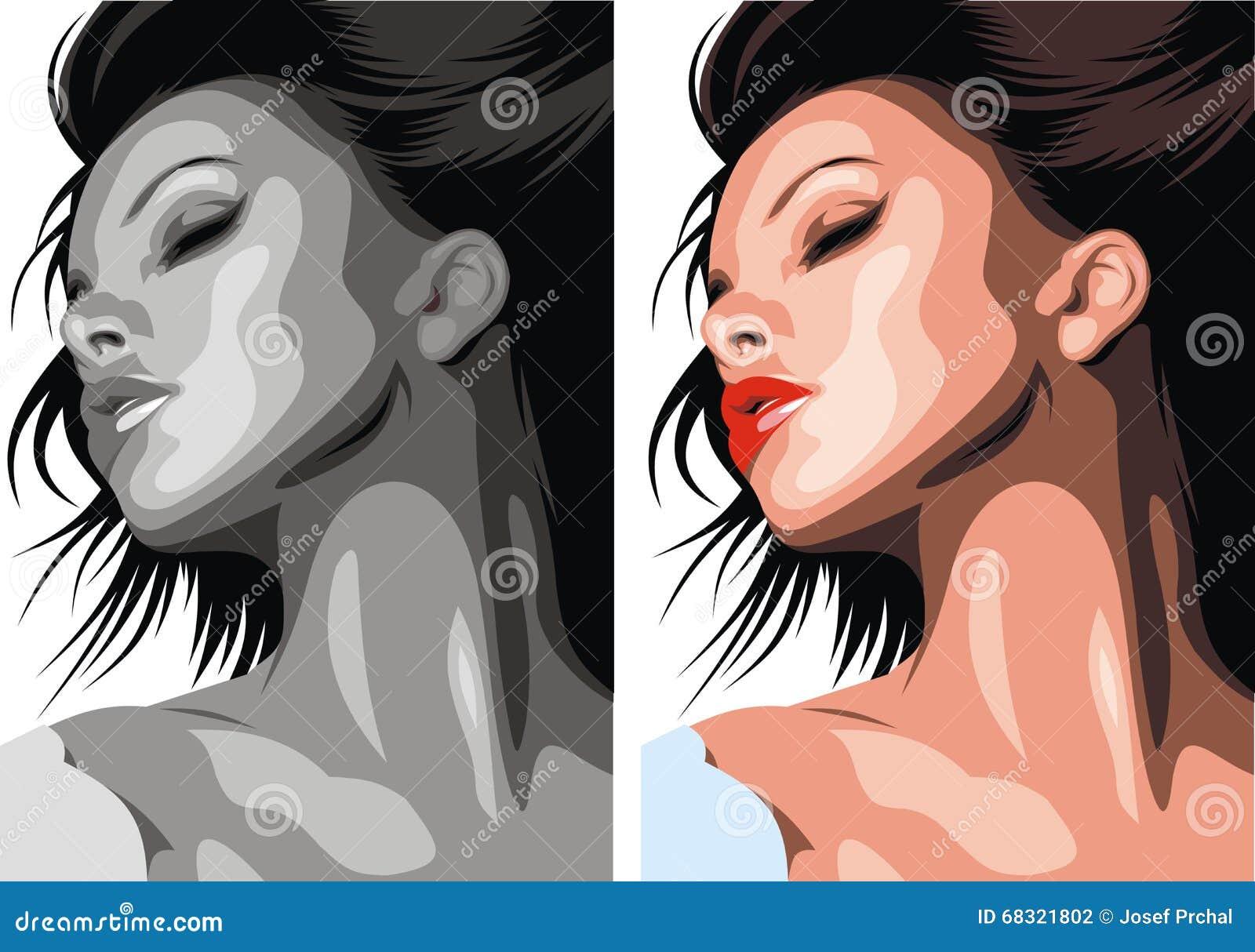 Testa piacevole della donna