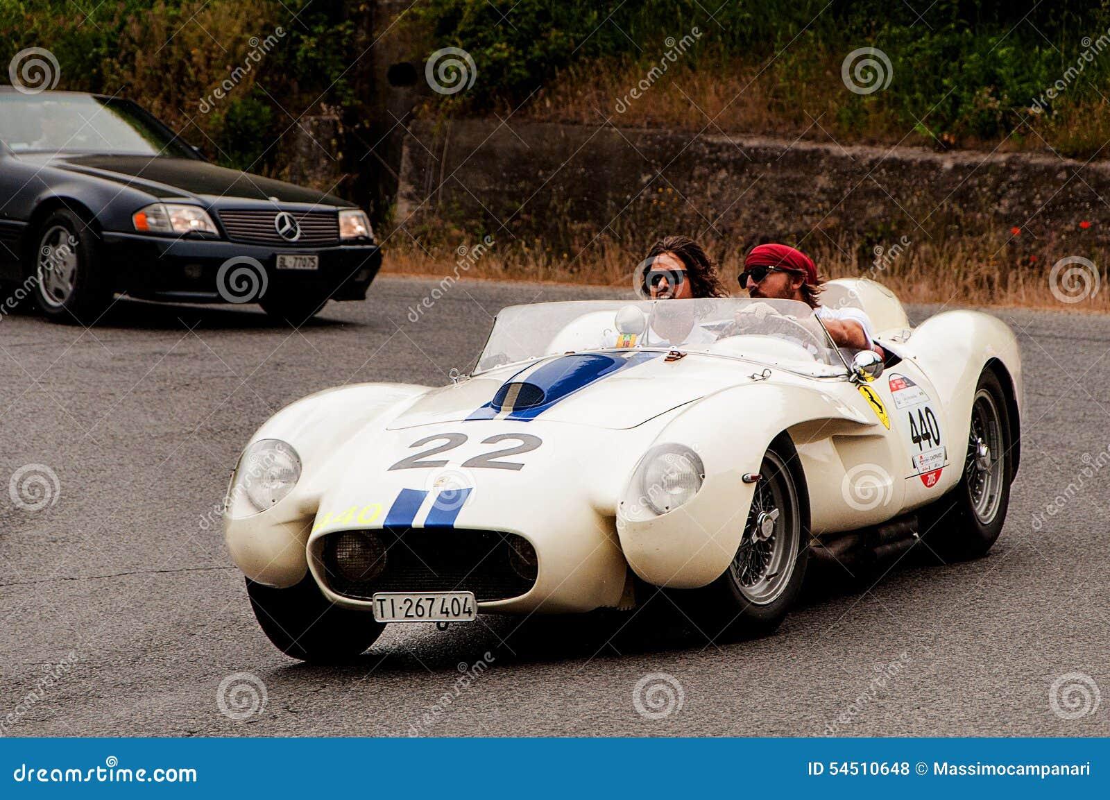 Testa Rossa 1957 Ferraris 250 Tr Redaktionelles Stockfoto Bild Von Gruppe Zeichen 54510648