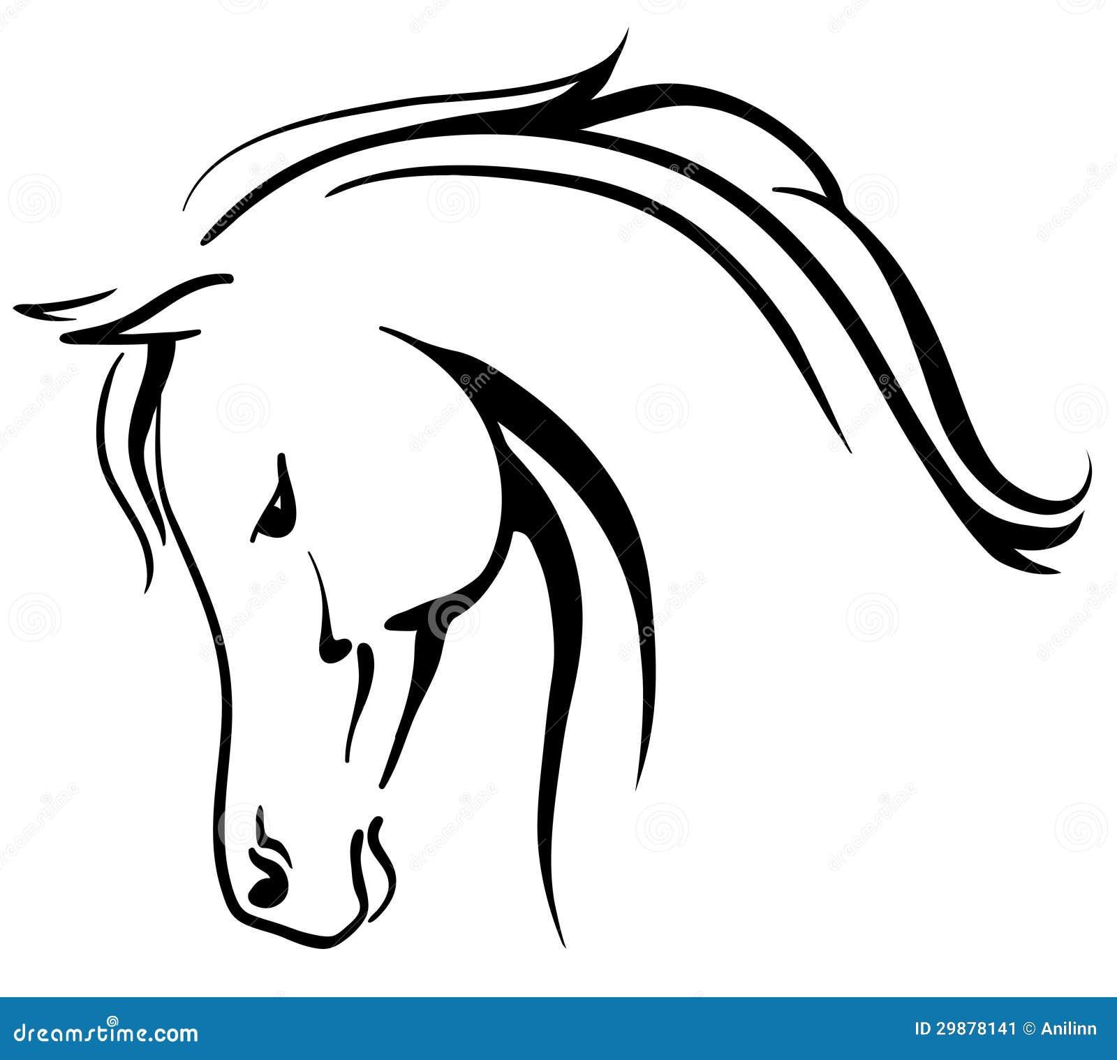 Disegni Da Colorare Testa Di Cavallo.Testa Stilizzata Cavallo Arabo Illustrazioni Vettoriali E Clipart Stock 21 Illustrazioni Stock