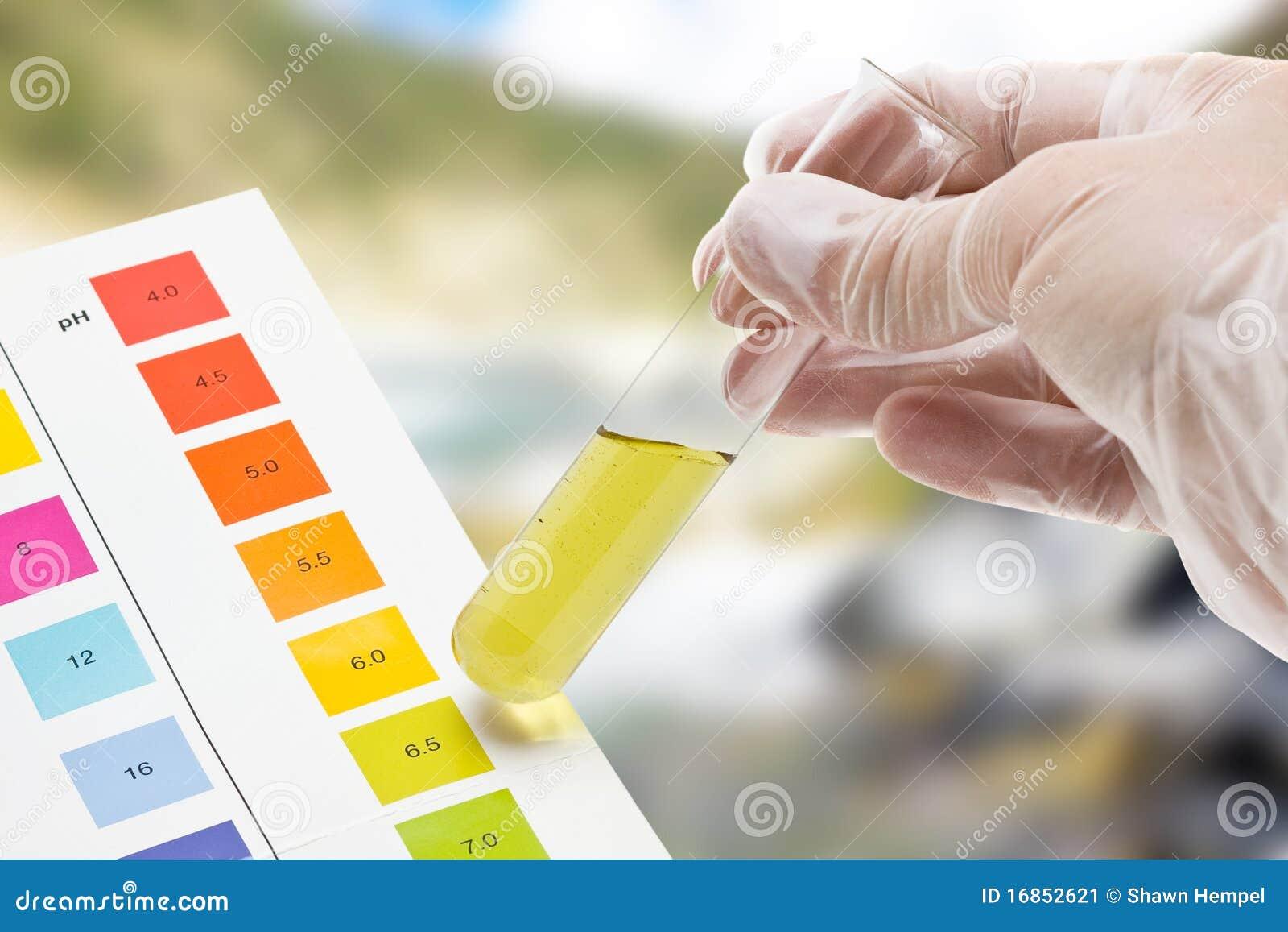Teste ao ar livre do pH