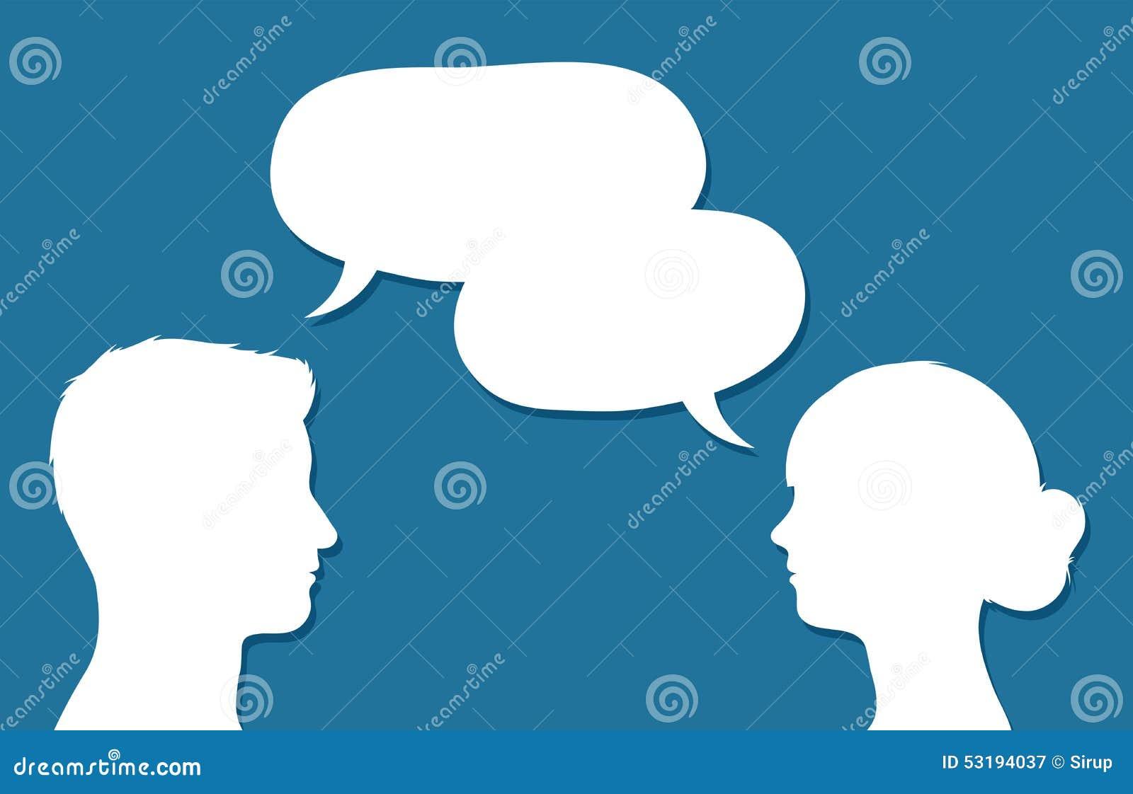 Teste maschii e femminili nella conversazione