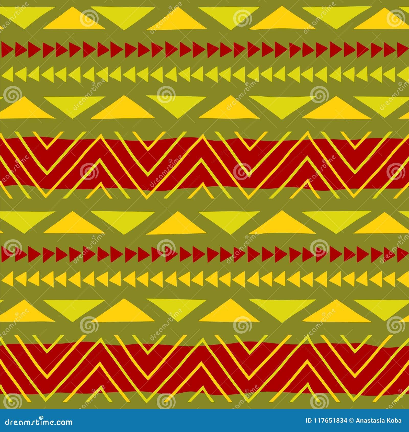 Teste padrão étnico Arte tribal Teste padrão africano Fundo do vetor
