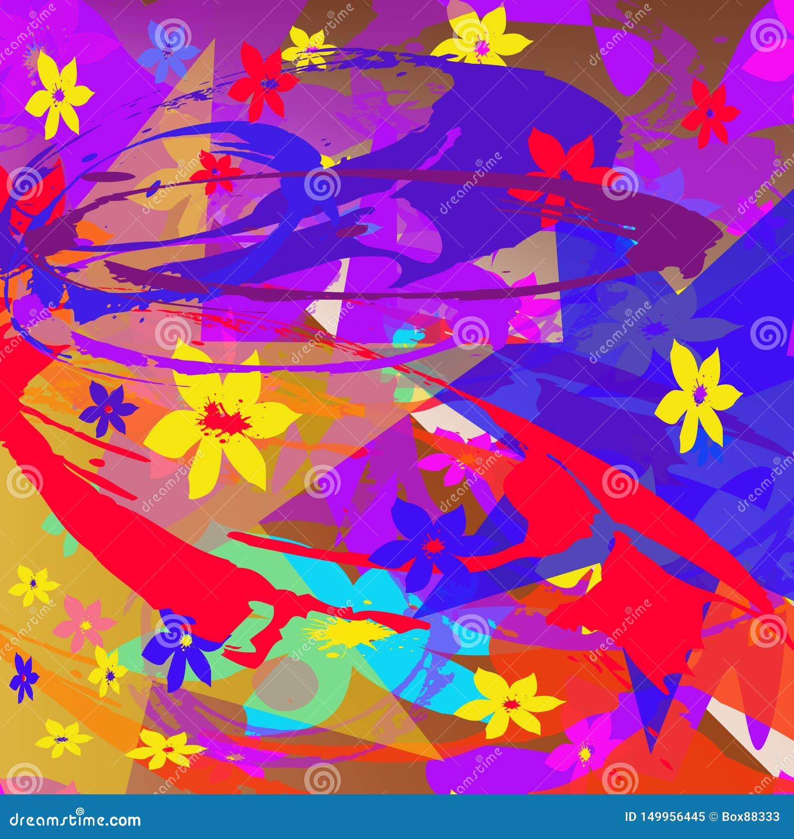 Teste padrão abstrato de elementos multi-coloridos