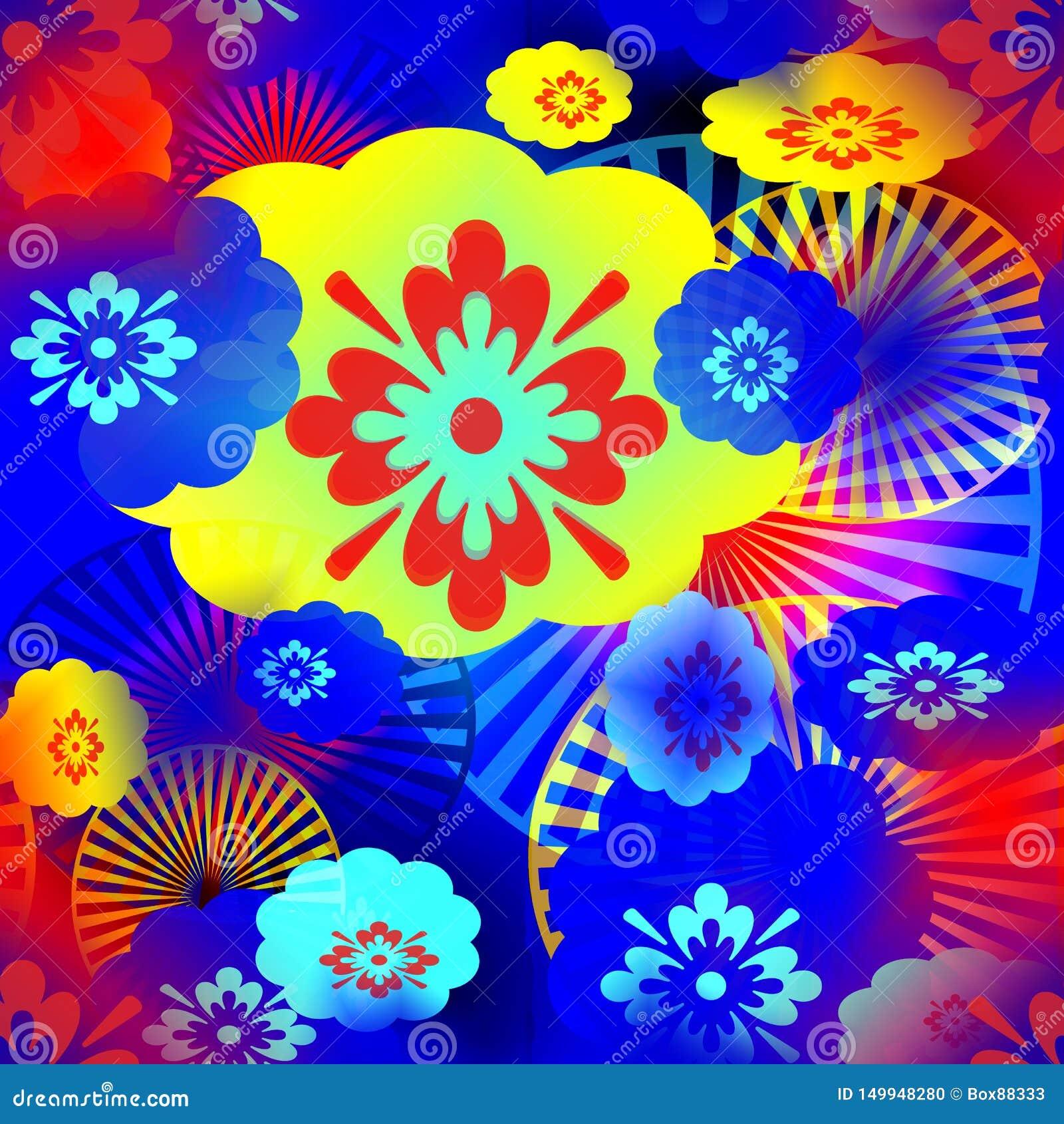 Teste padrão abstrato sem emenda de elementos coloridos