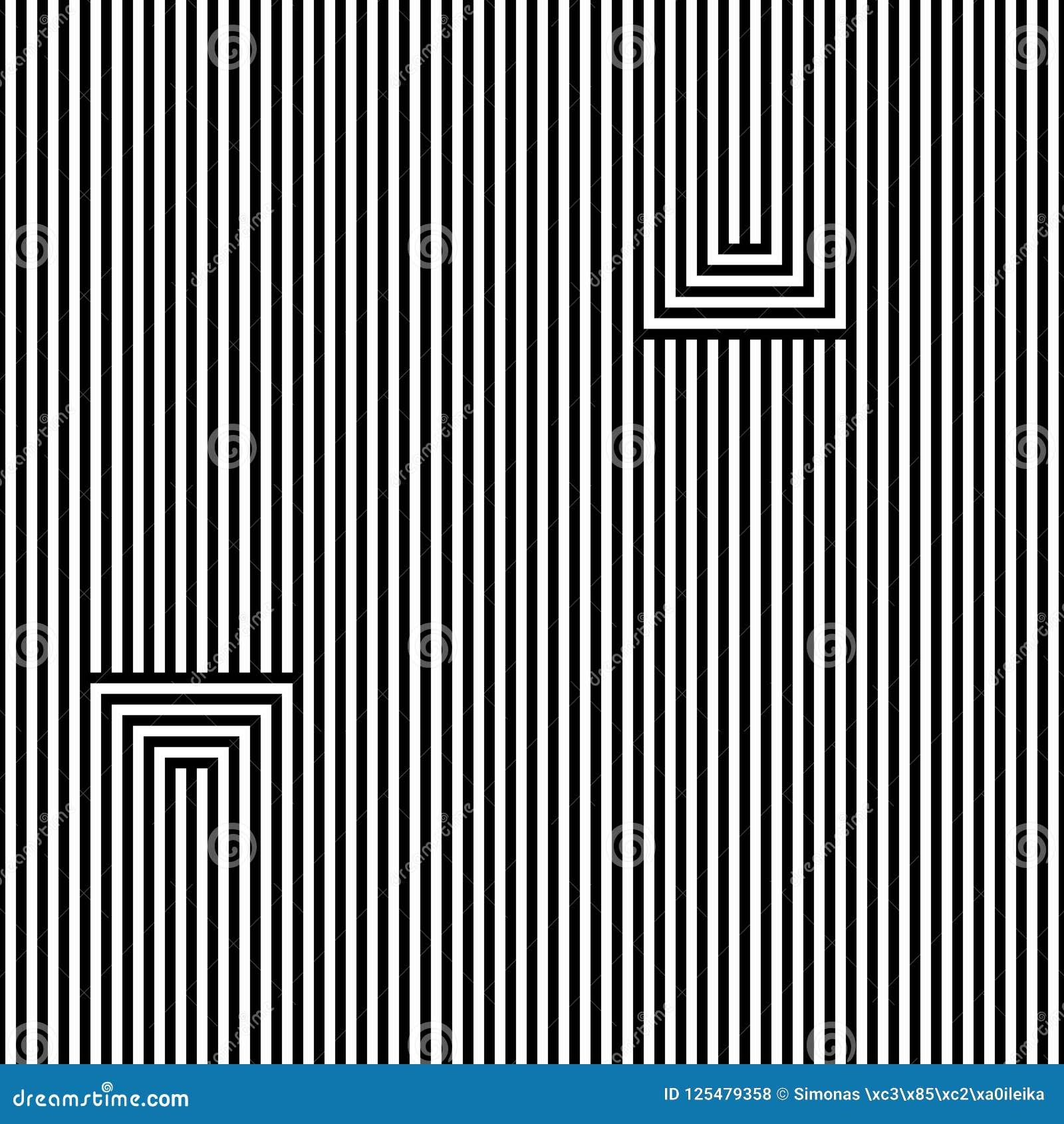 Teste padrão abstrato sem emenda do vetor Linhas preto, isolado no fundo branco