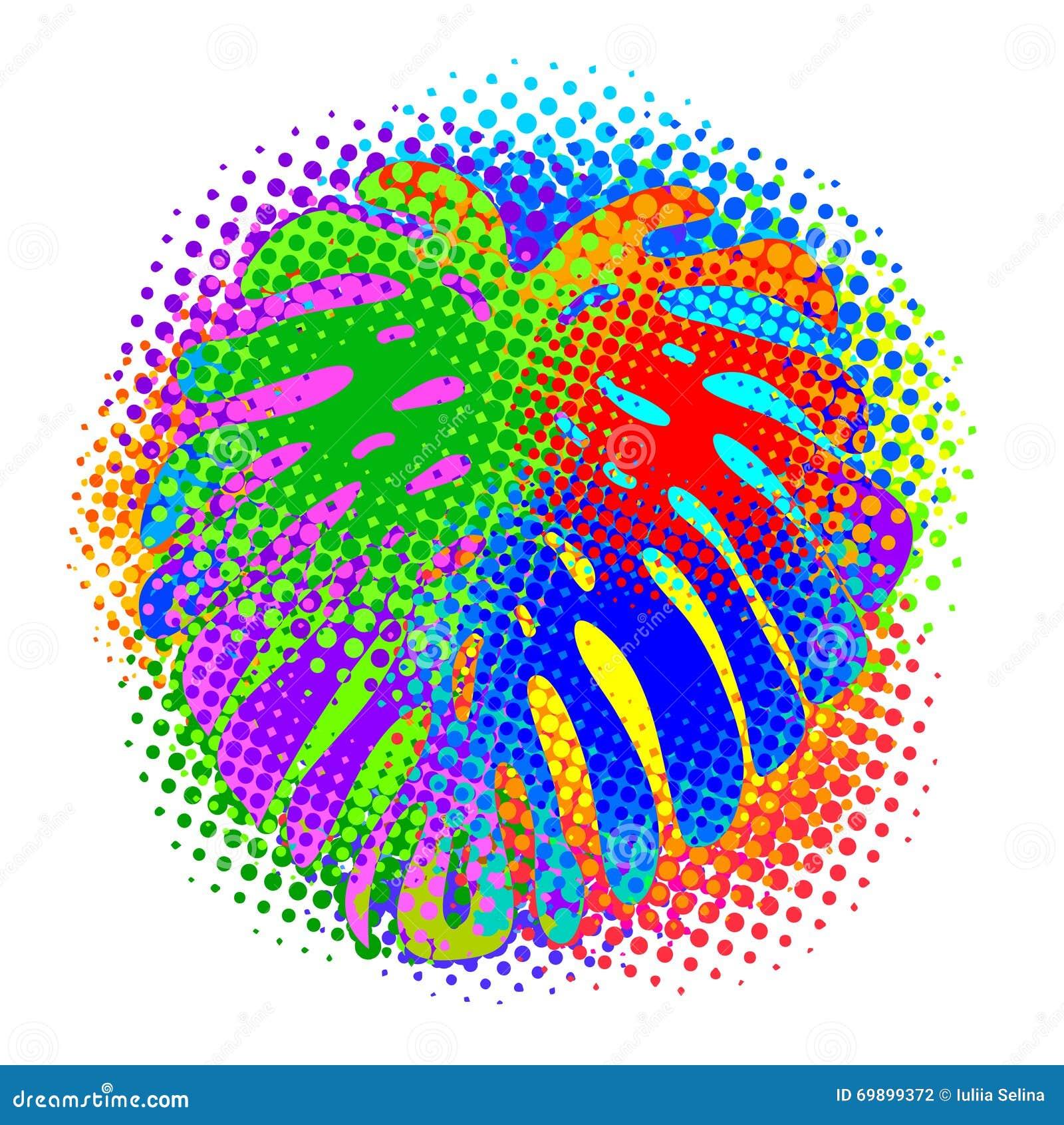 Teste padrão abstrato tropical
