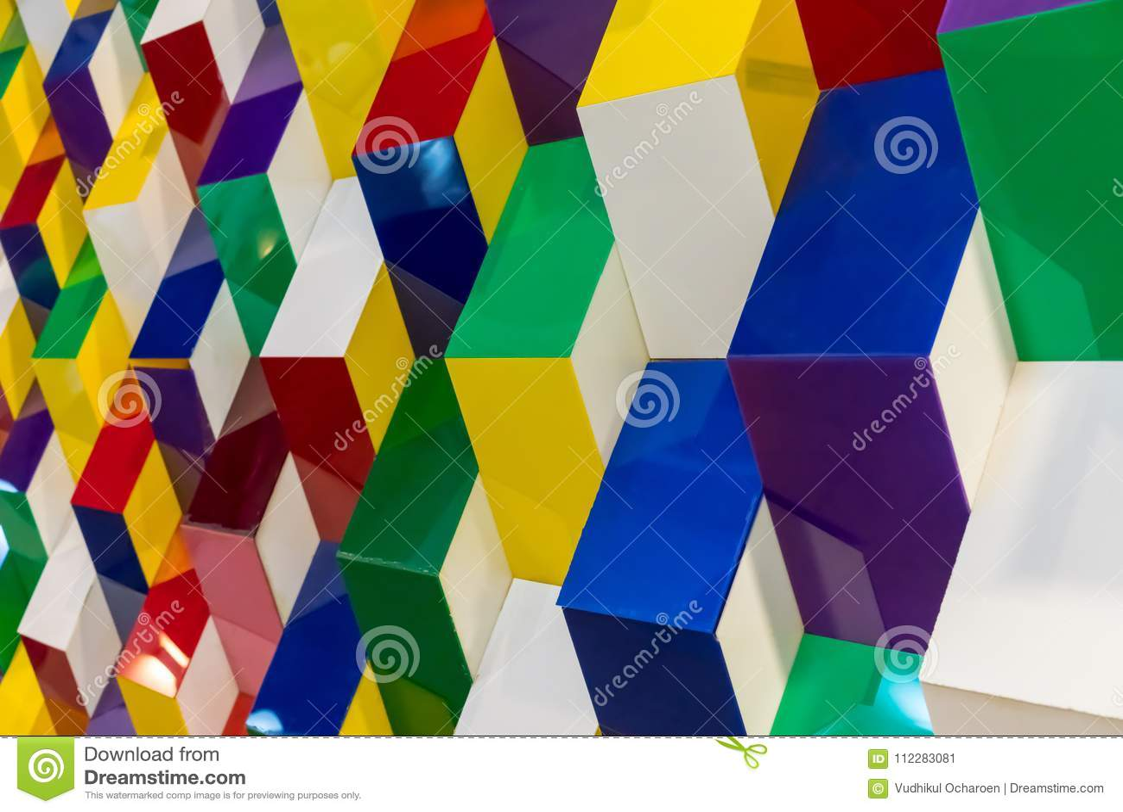 Teste padrão acrílico colorido da estrutura que cria w geométrico abstrato