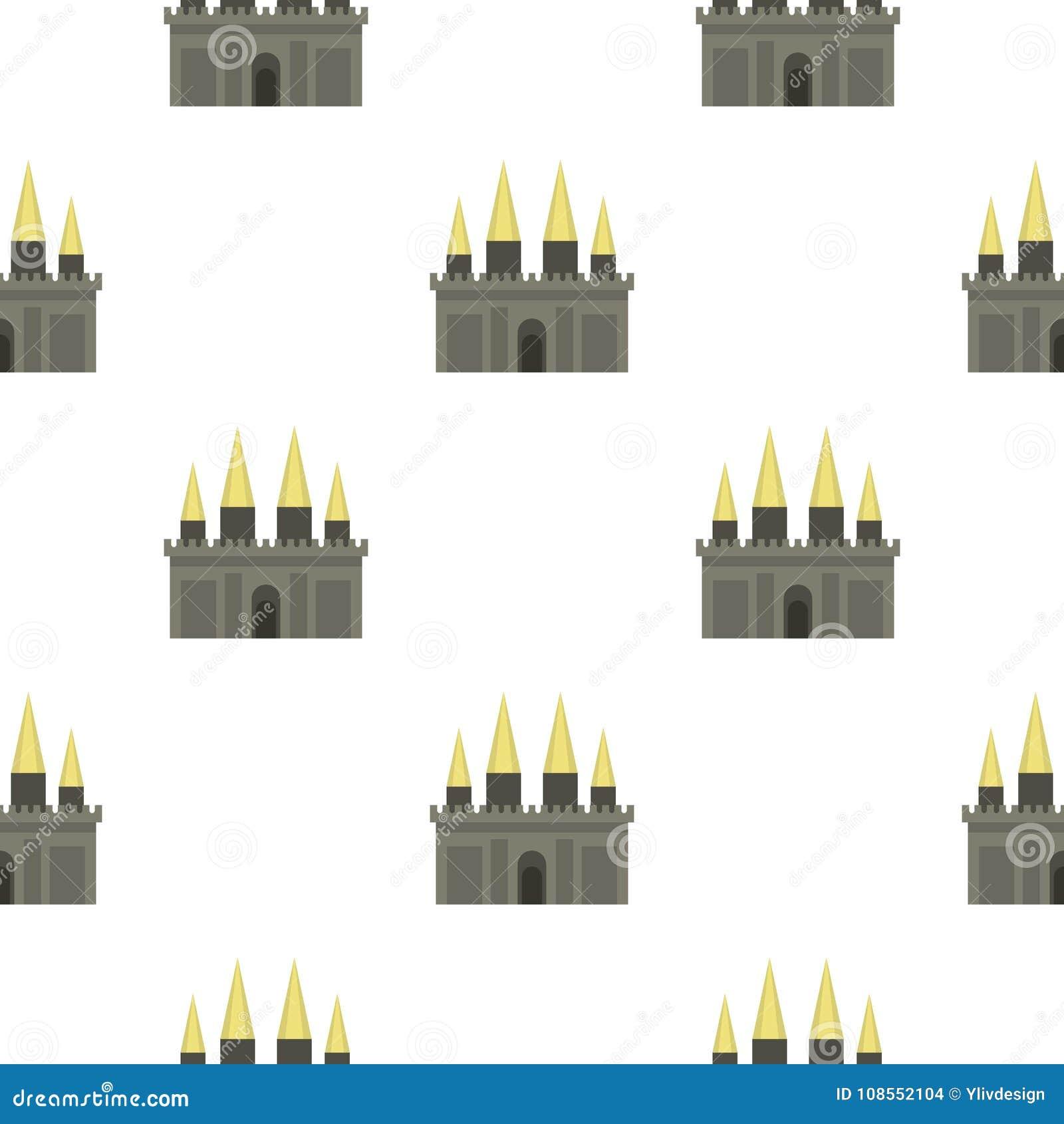 Teste padrão antigo do palácio do castelo sem emenda