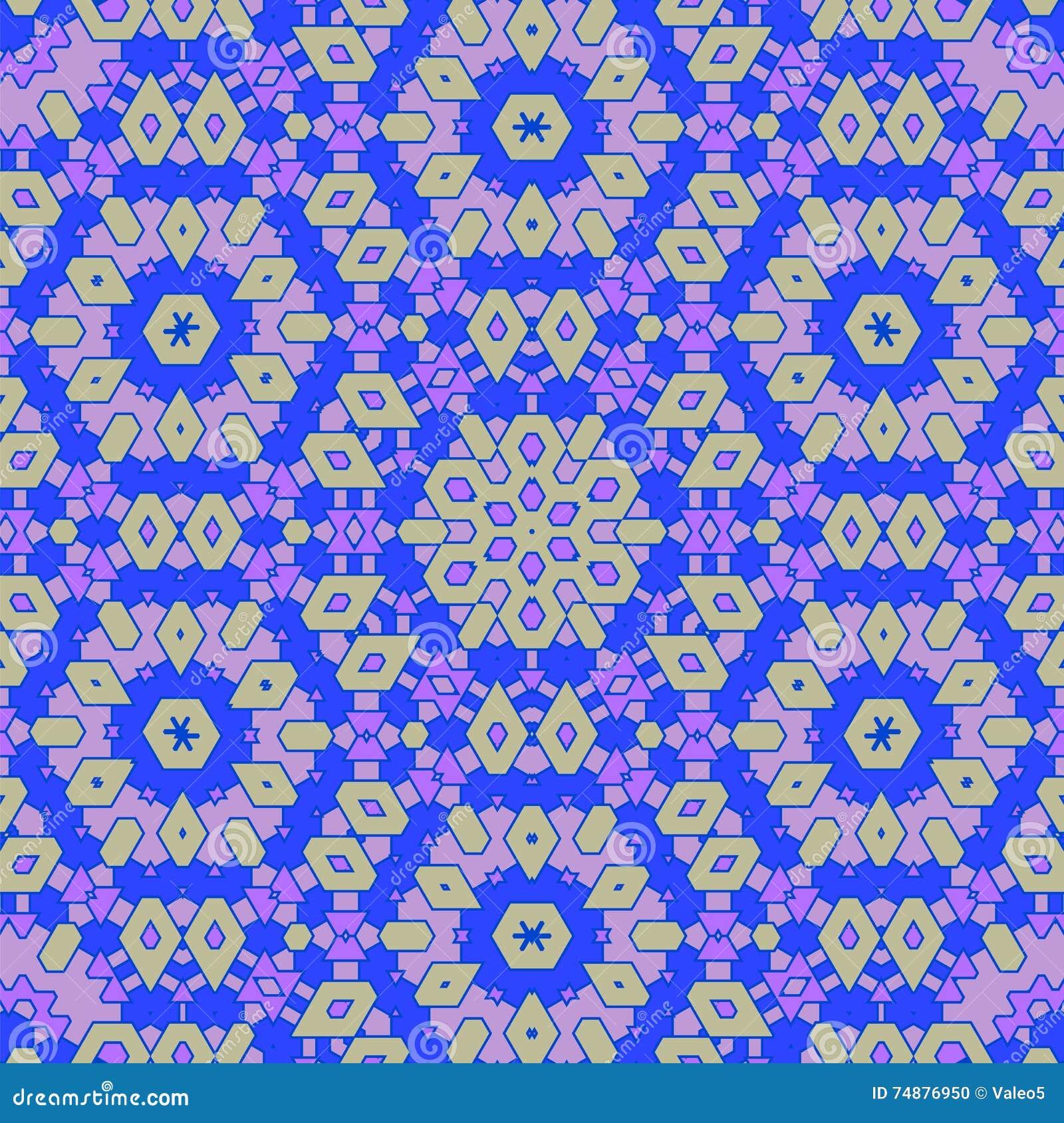 Teste padrão azul decorativo criativo