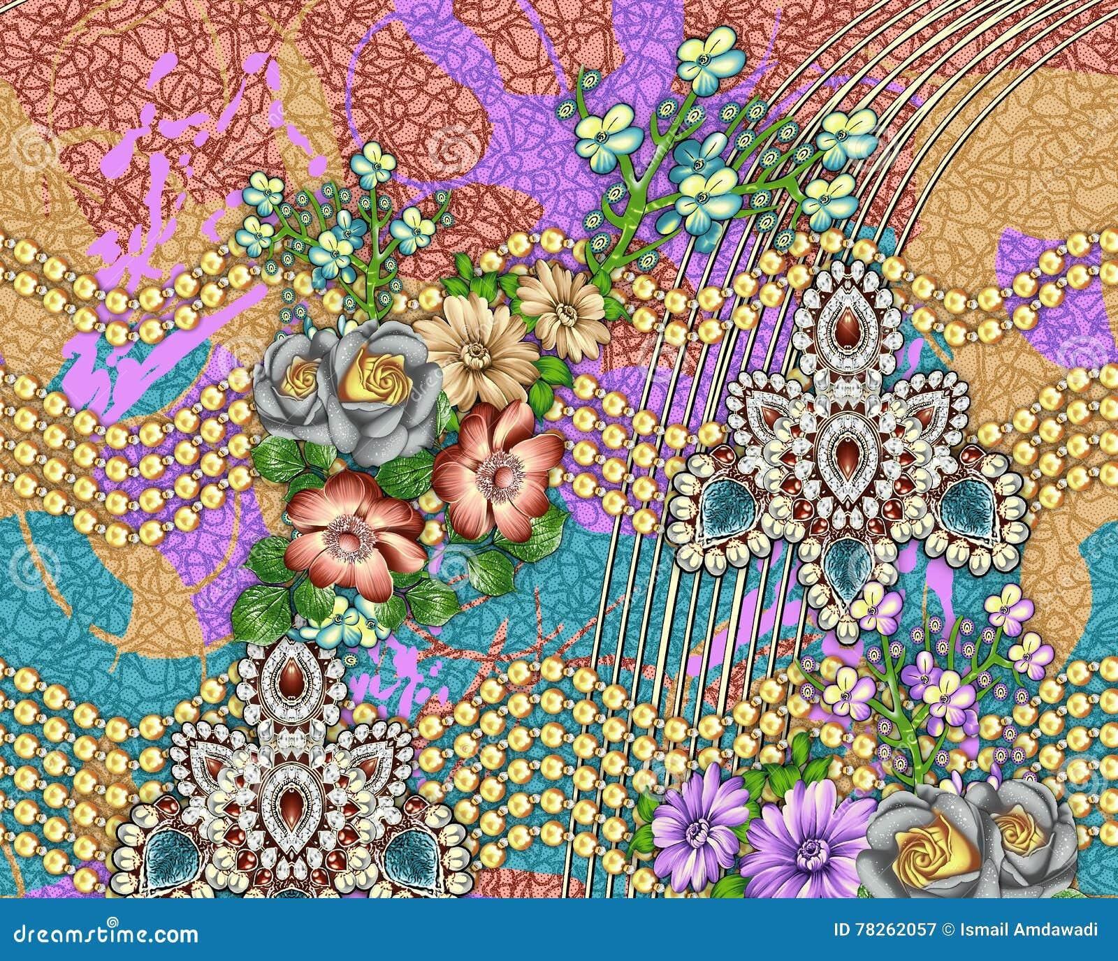 Teste padrão bonito do fundo da flor