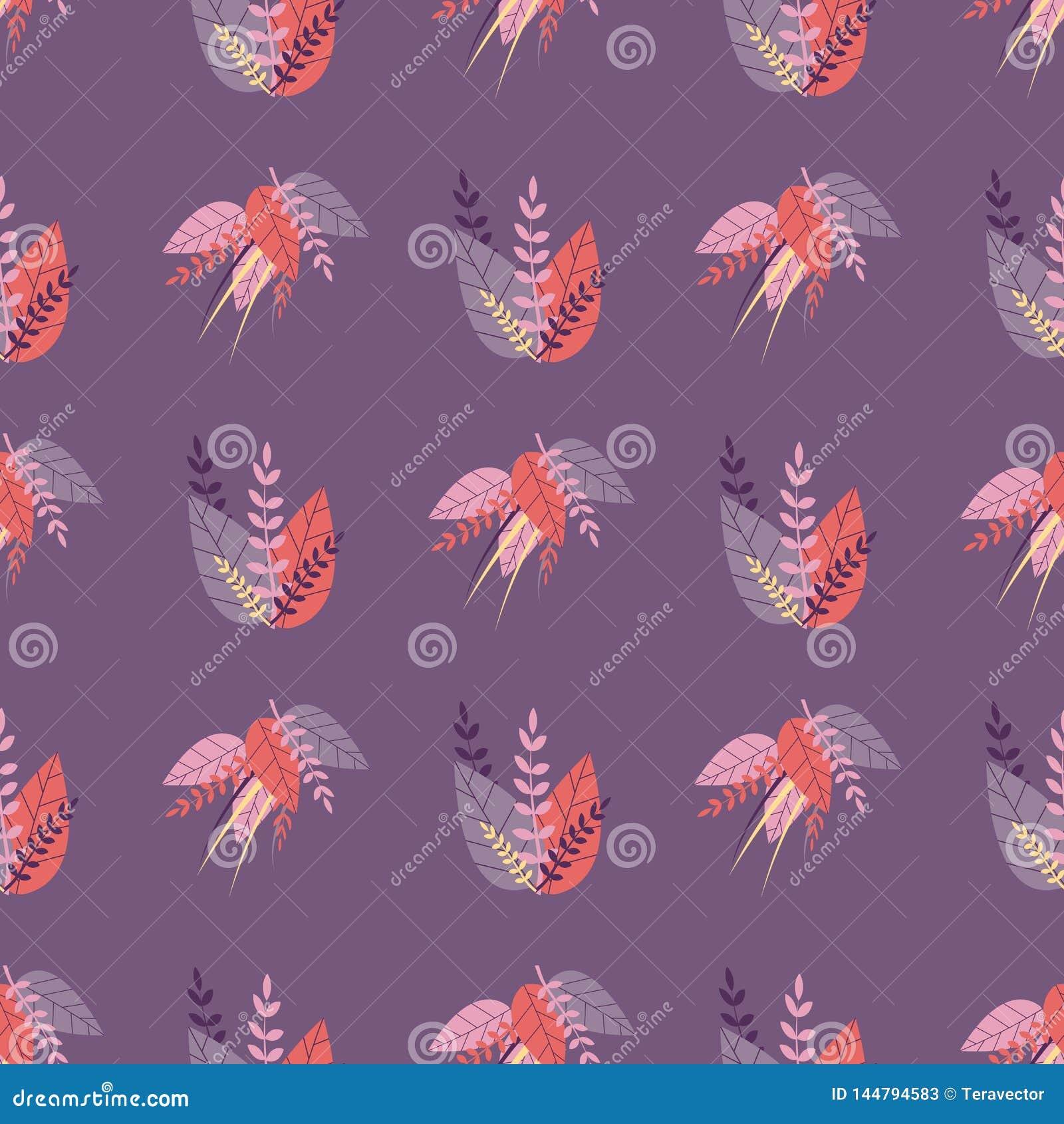 Teste padrão bonito sem emenda roxo no estilo erval