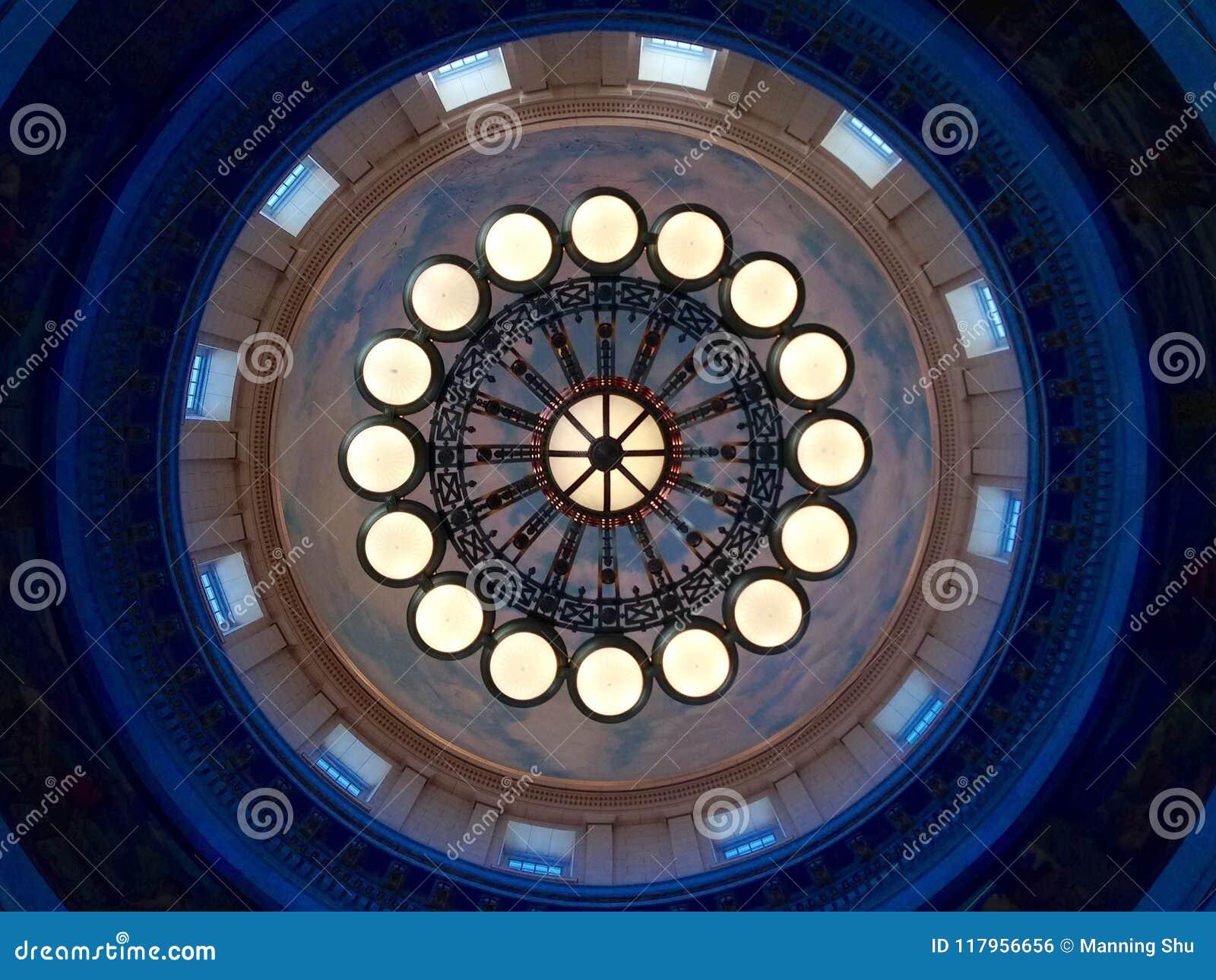 Teste padrão circular concêntrico das luzes