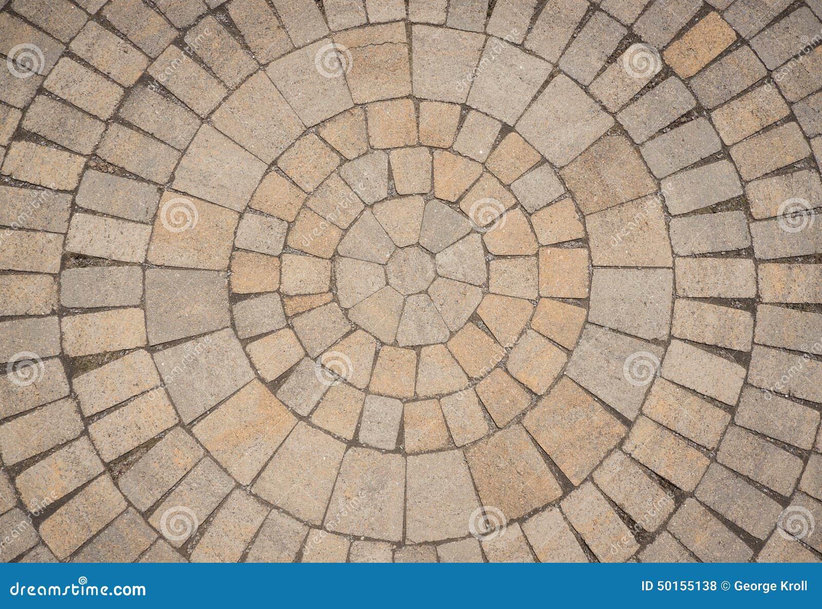 Teste padrão circular da pedra de pavimentação