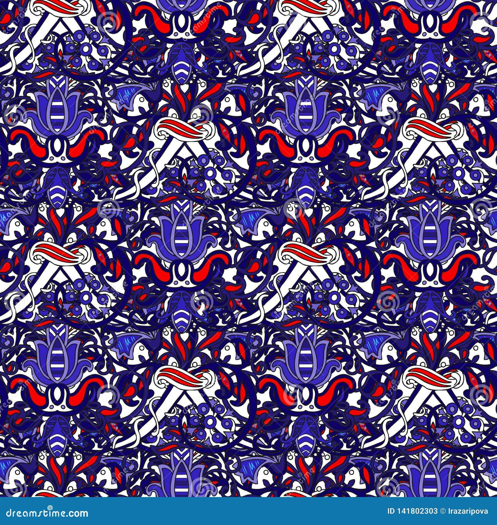 Teste padrão colorido turco sem emenda O teste padrão infinito pode ser usado para o azulejo, papel de parede, linóleo, matéria t