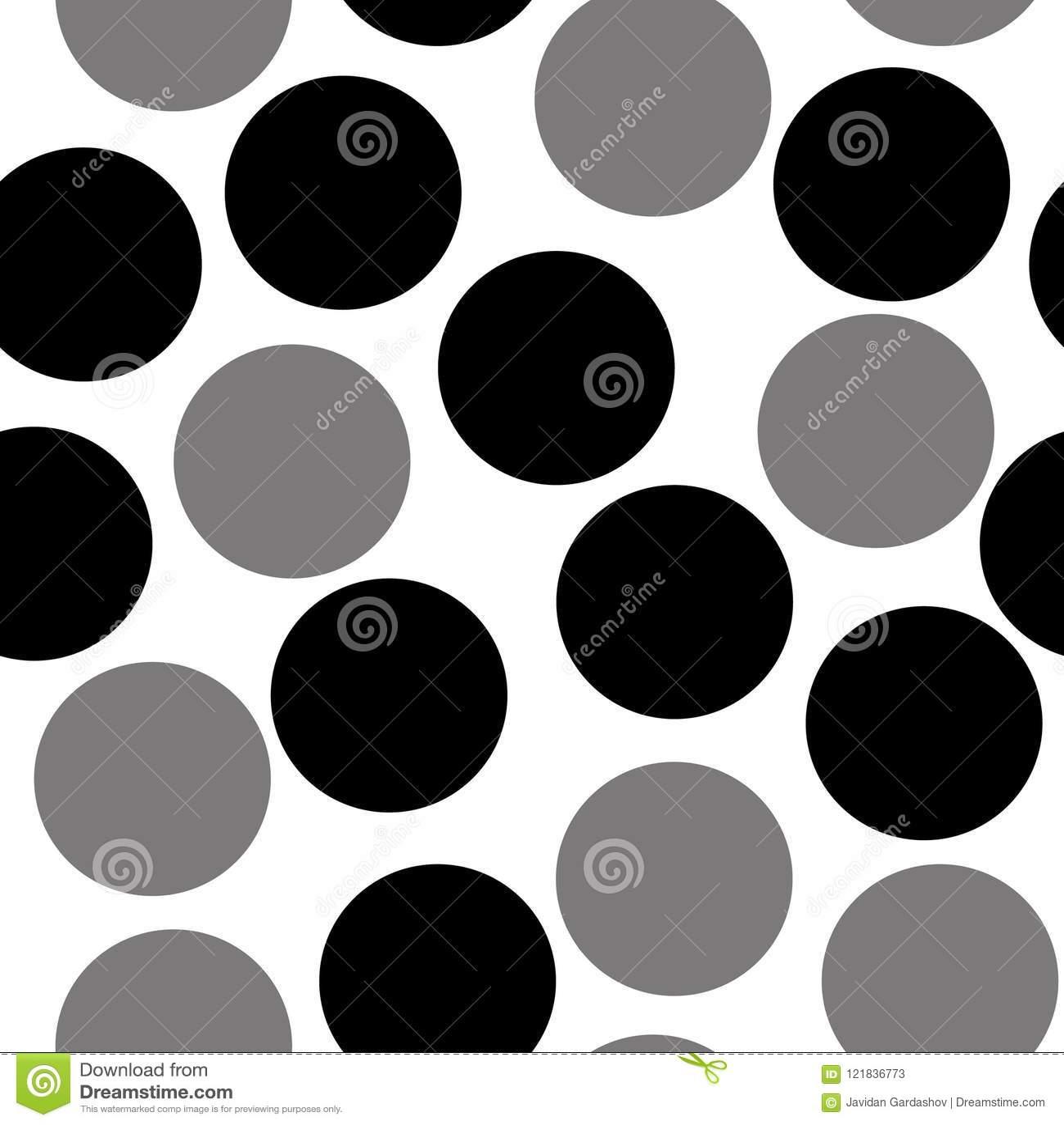 Teste padrão com círculos, fundo pontilhado Sem emenda repetindo